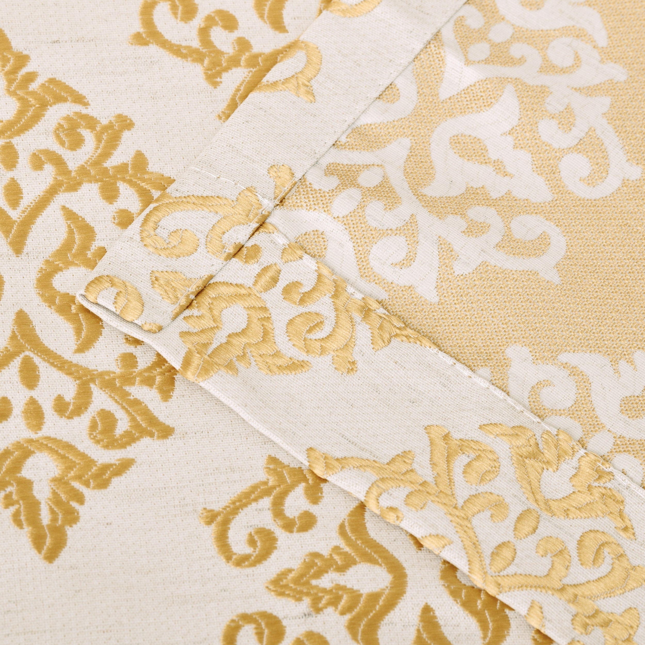 2020 Miranda Haus Labrea Damask Jacquard Grommet Curtain Panel (set Of 2) For Miranda Haus Labrea Damask Jacquard Grommet Curtain Panels (View 8 of 20)