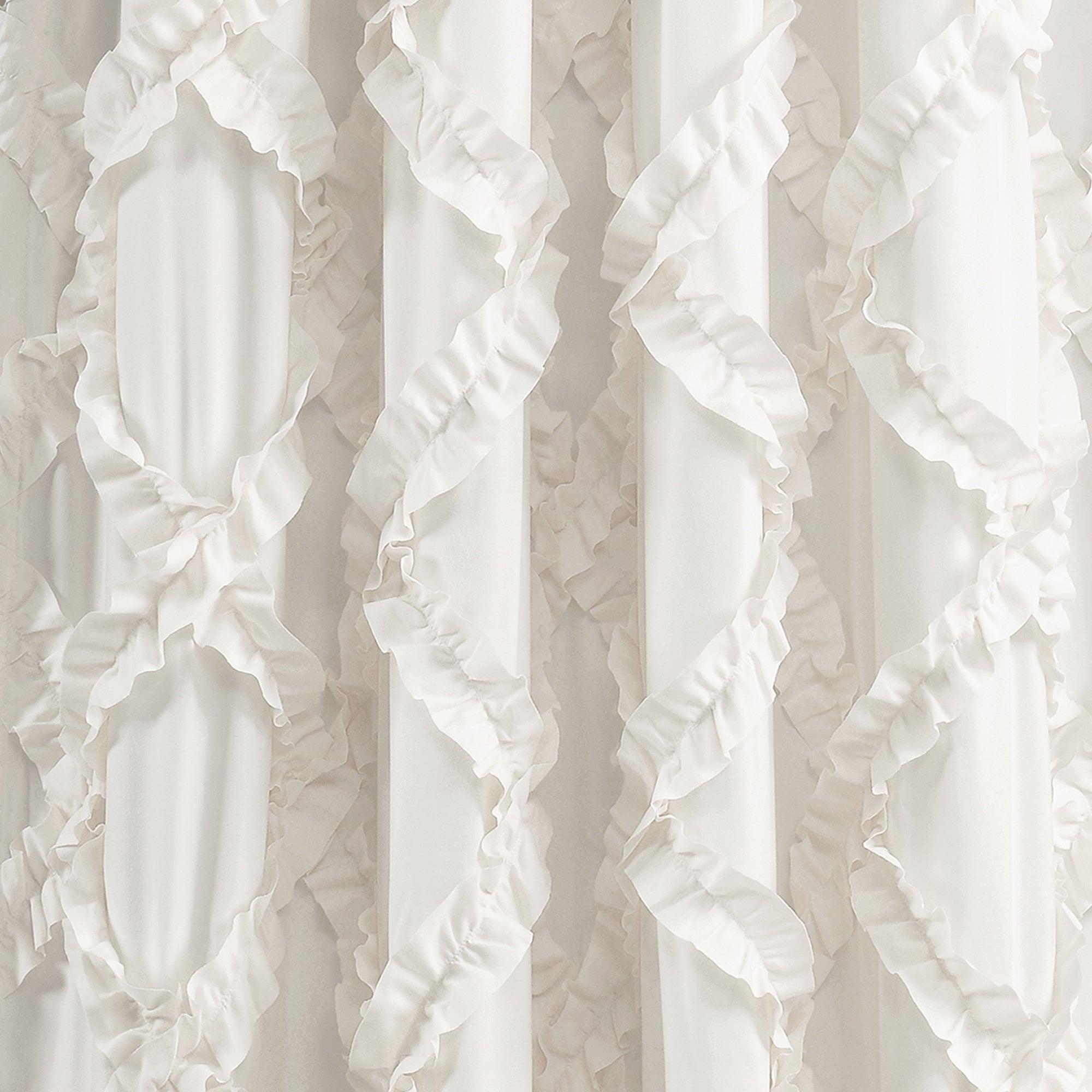 2020 Ruffle Diamond Curtain Panel Pairs With Lush Decor Ruffle Diamond Curtain Panel Pair (View 7 of 20)