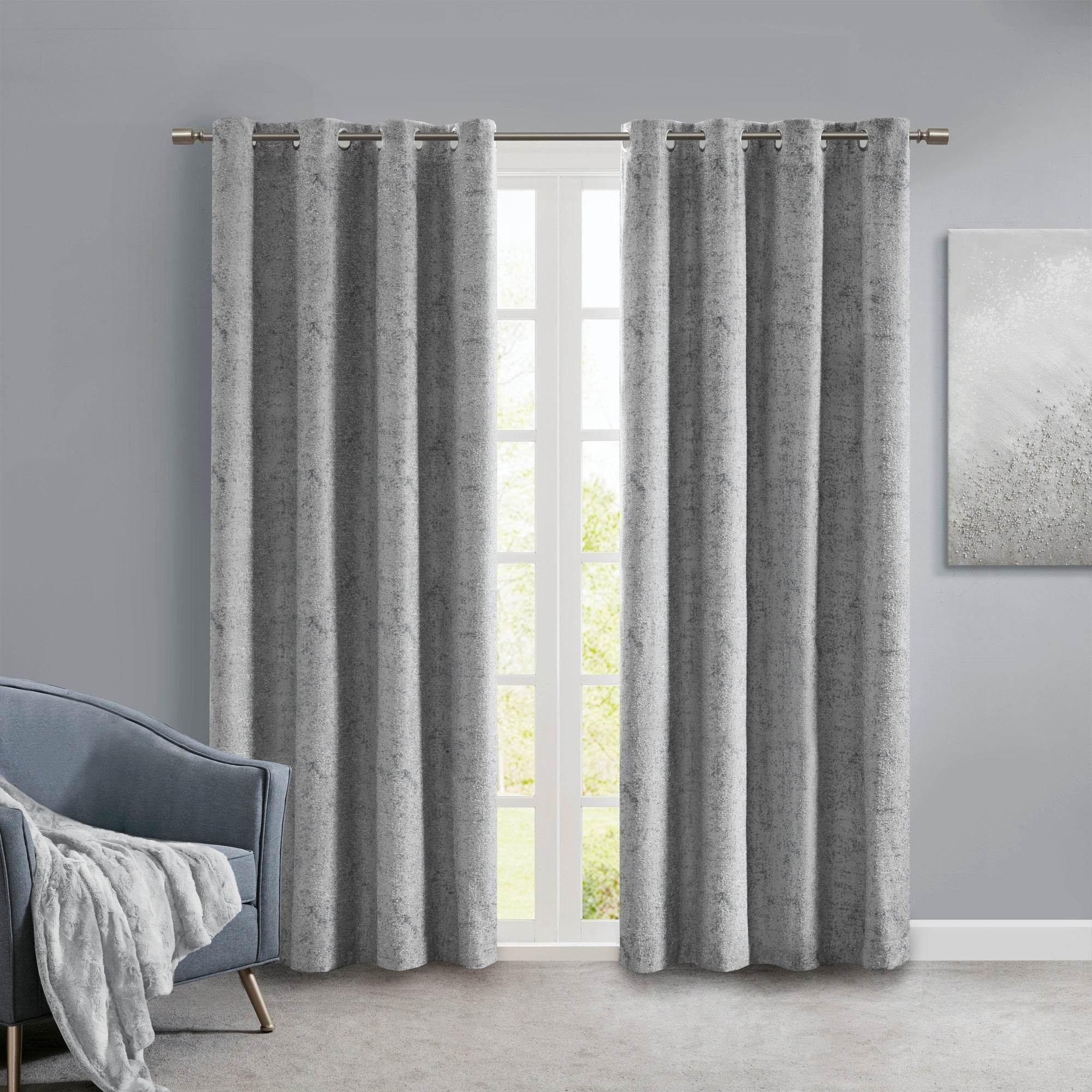 2020 Sunsmart Stella Knitted Jacquard Marble Total Blackout Panel Pertaining To Sunsmart Abel Ogee Knitted Jacquard Total Blackout Curtain Panels (View 20 of 20)