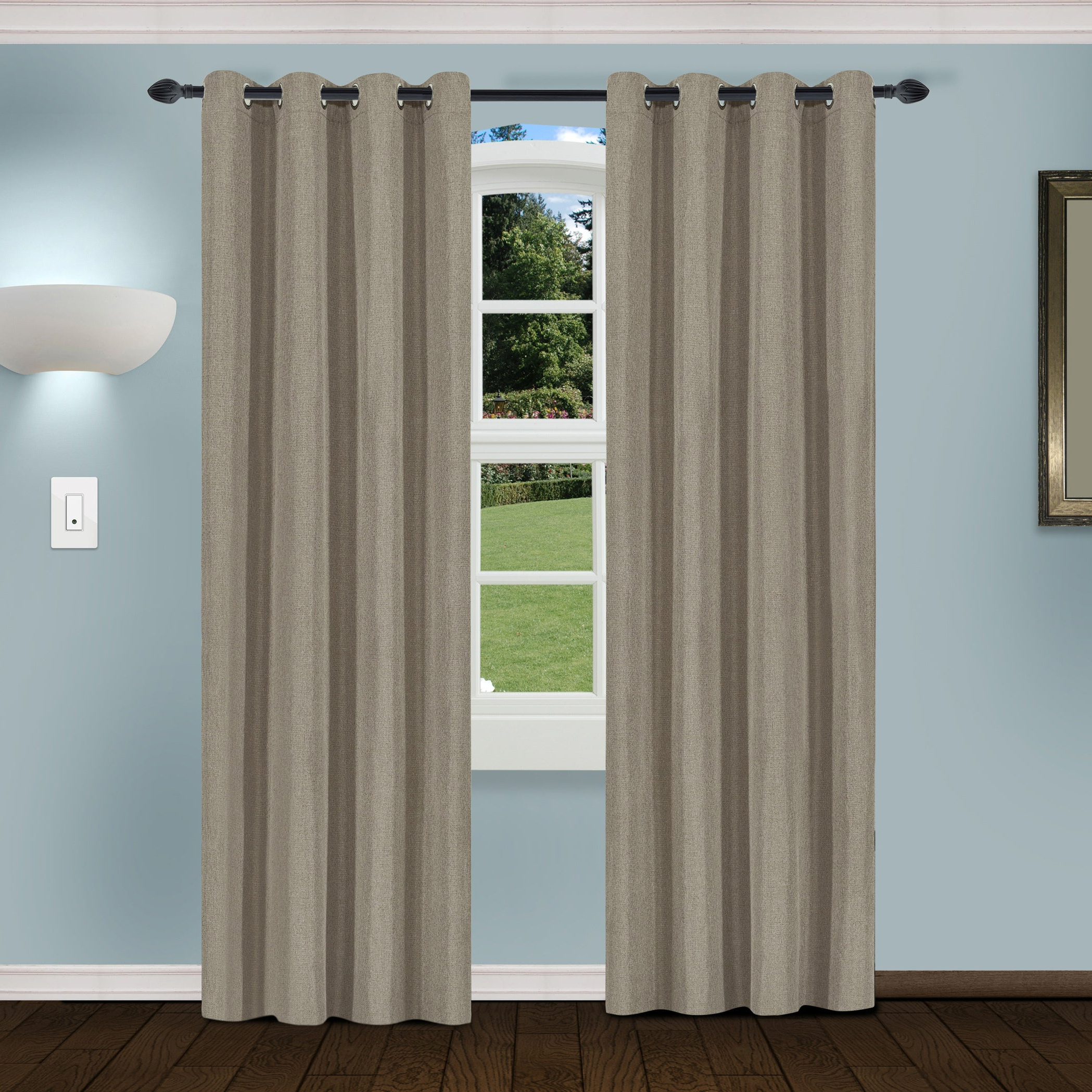 2020 Superior Solid Insulated Thermal Blackout Grommet Curtain Panel Pairs With Regard To Superior Linen Insulated Thermal Blackout Grommet Curtain Panel Pair (View 11 of 20)