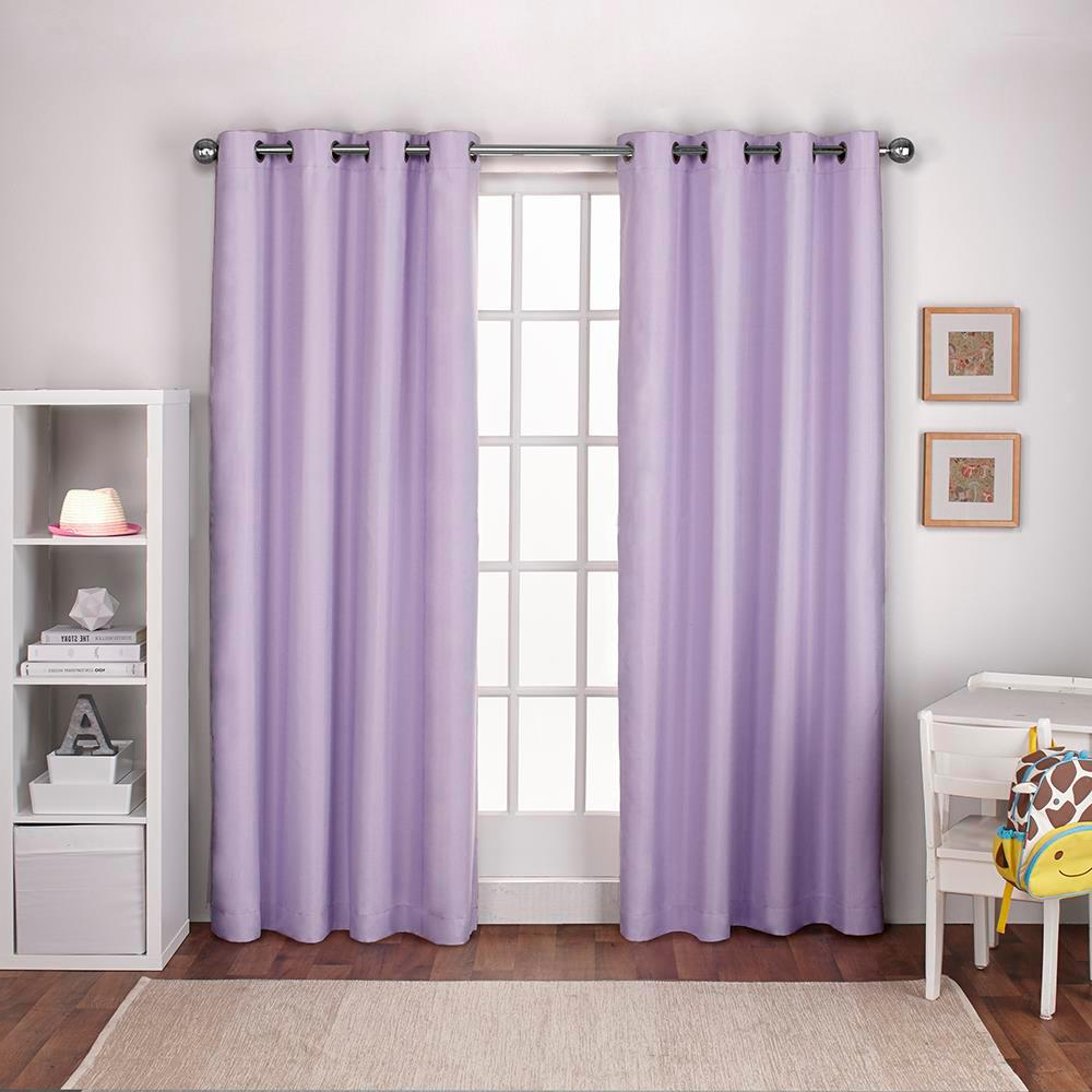 2020 Textured Linen Lilac Purple Thermal Grommet Top Window Curtain For Thermal Textured Linen Grommet Top Curtain Panel Pairs (View 8 of 20)