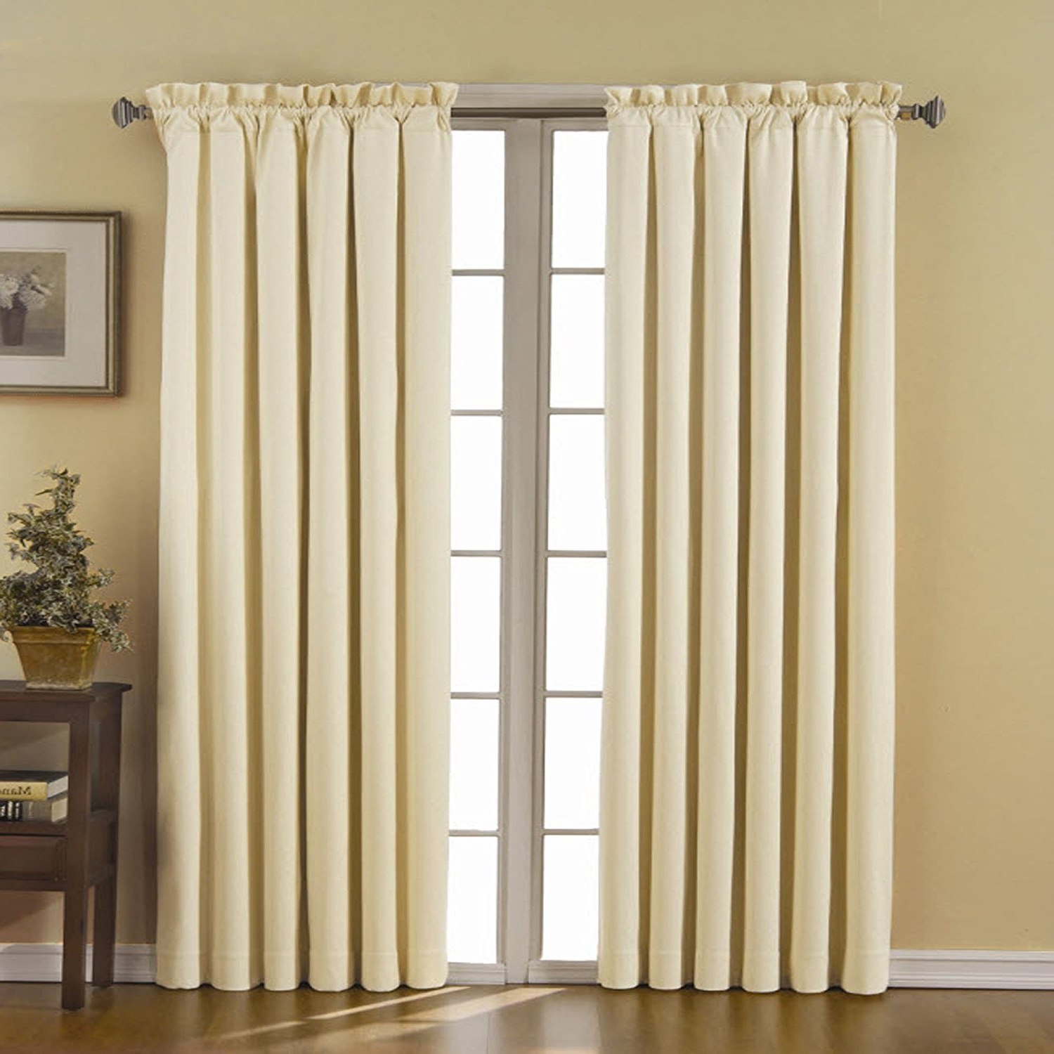 2020 Thermaback Blackout Window Curtains For Details About Eclipse Canova 42 Inch84 Inch Thermaback Blackout Panel, Ivory , New, Free S (View 7 of 20)
