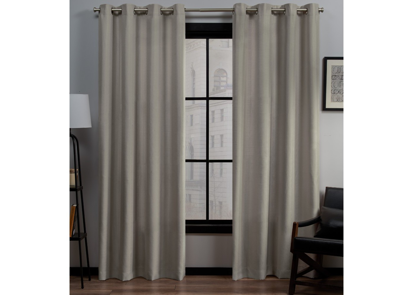 """2020 Twig Insulated Blackout Curtain Panel Pairs With Grommet Top In Exclusive Home Curtains Eh8092 11 2 108g Loha Linen Window Curtain Panel Pair, 54"""" X 108"""", Vintage Linen (View 18 of 20)"""