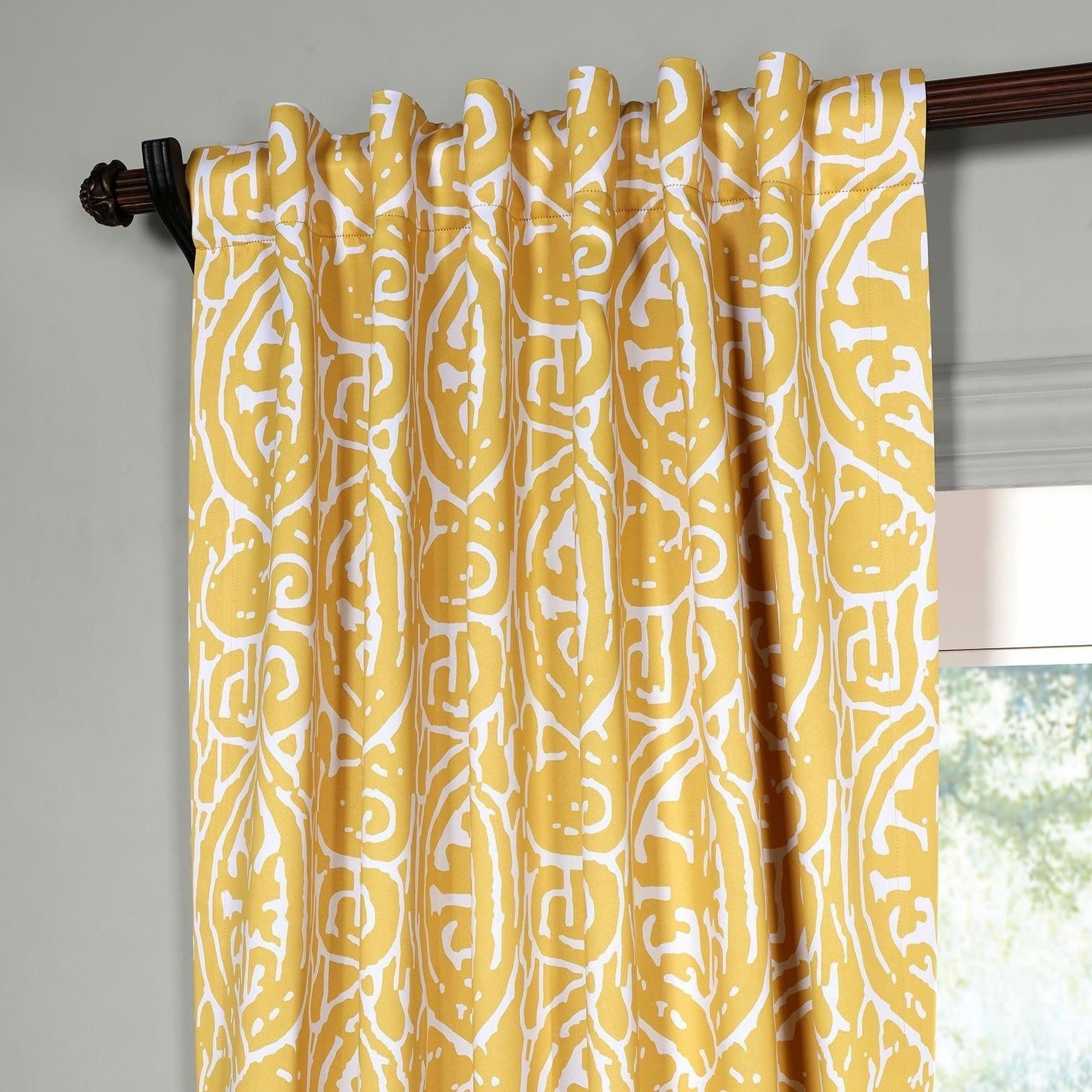 2021 Abstract Blackout Curtain Panel Pairs Inside Exclusive Fabrics Abstract Blackout Curtain Panel Pair (View 4 of 20)