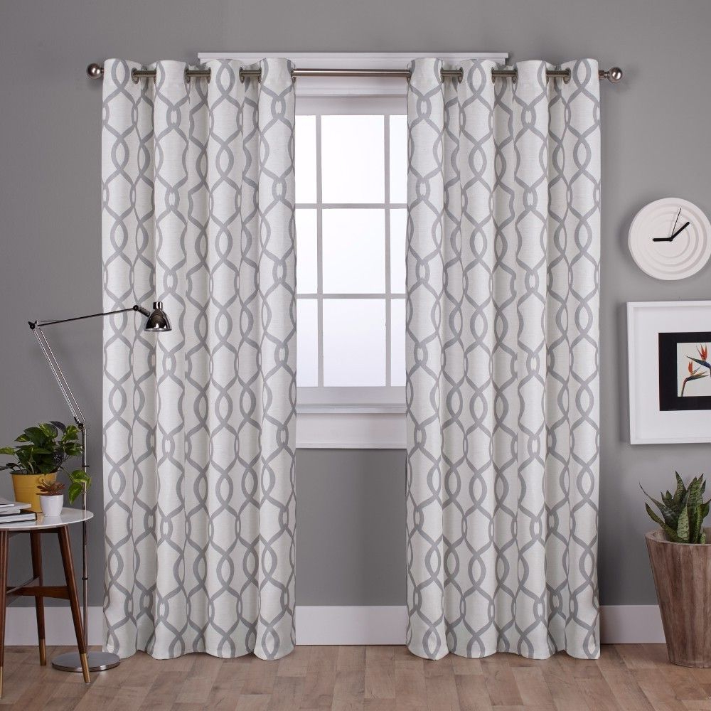 2021 Caldwell Curtain Panel Pairs Within Kochi Linen Blend Grommet Top Window Curtain Panel Pair Dove (View 1 of 20)