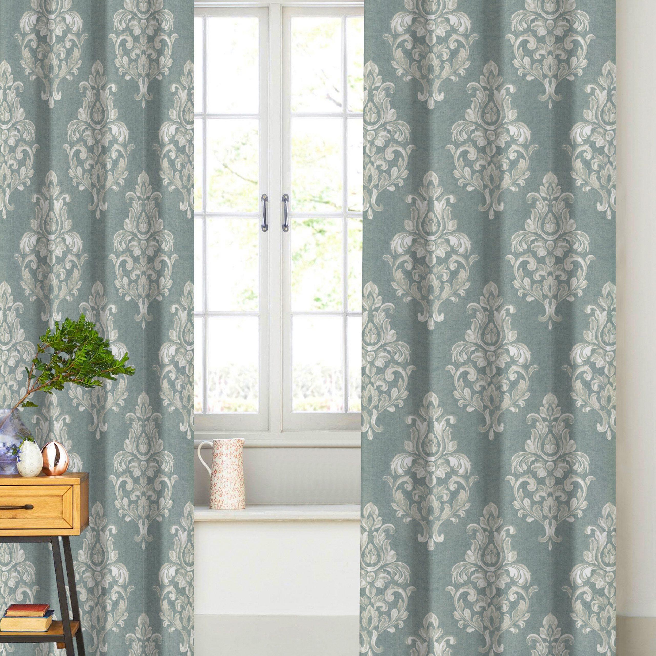 2021 Canora Grey Shoemaker Damask Semi Sheer Curtain Panels (View 18 of 20)