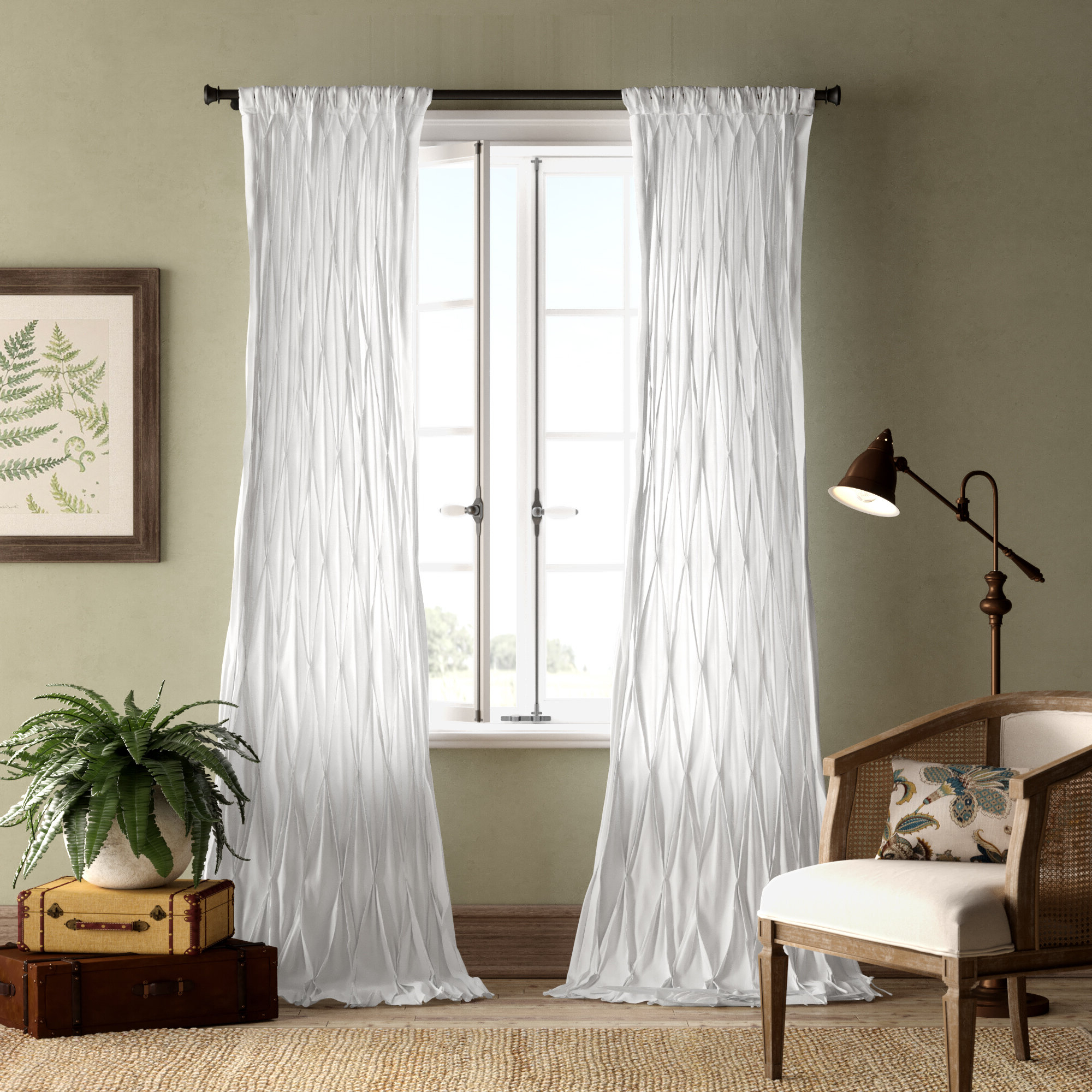 2021 Casimiro Cotton Voile Solid Sheer Pinch Pleat Single Curtain Panel Intended For Solid Cotton Curtain Panels (View 14 of 20)