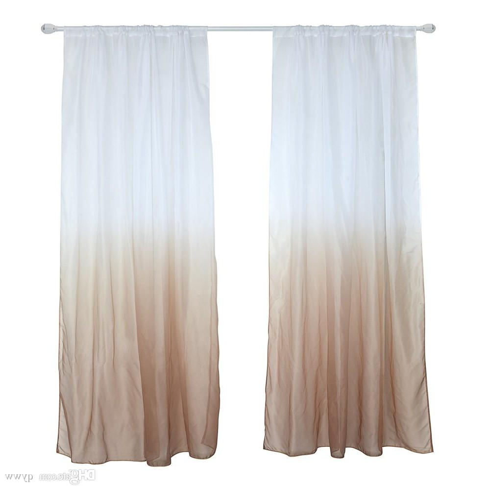 2021 Classic Hotel Quality Water Resistant Fabric Curtains Set With Tiebacks Inside 39 * 79Inches Polyester Semi Blackout Gradient Window Curtain Panel Living  Room Bedroom Hotel Divider Voile Curtain With Rod Pocket (View 1 of 20)