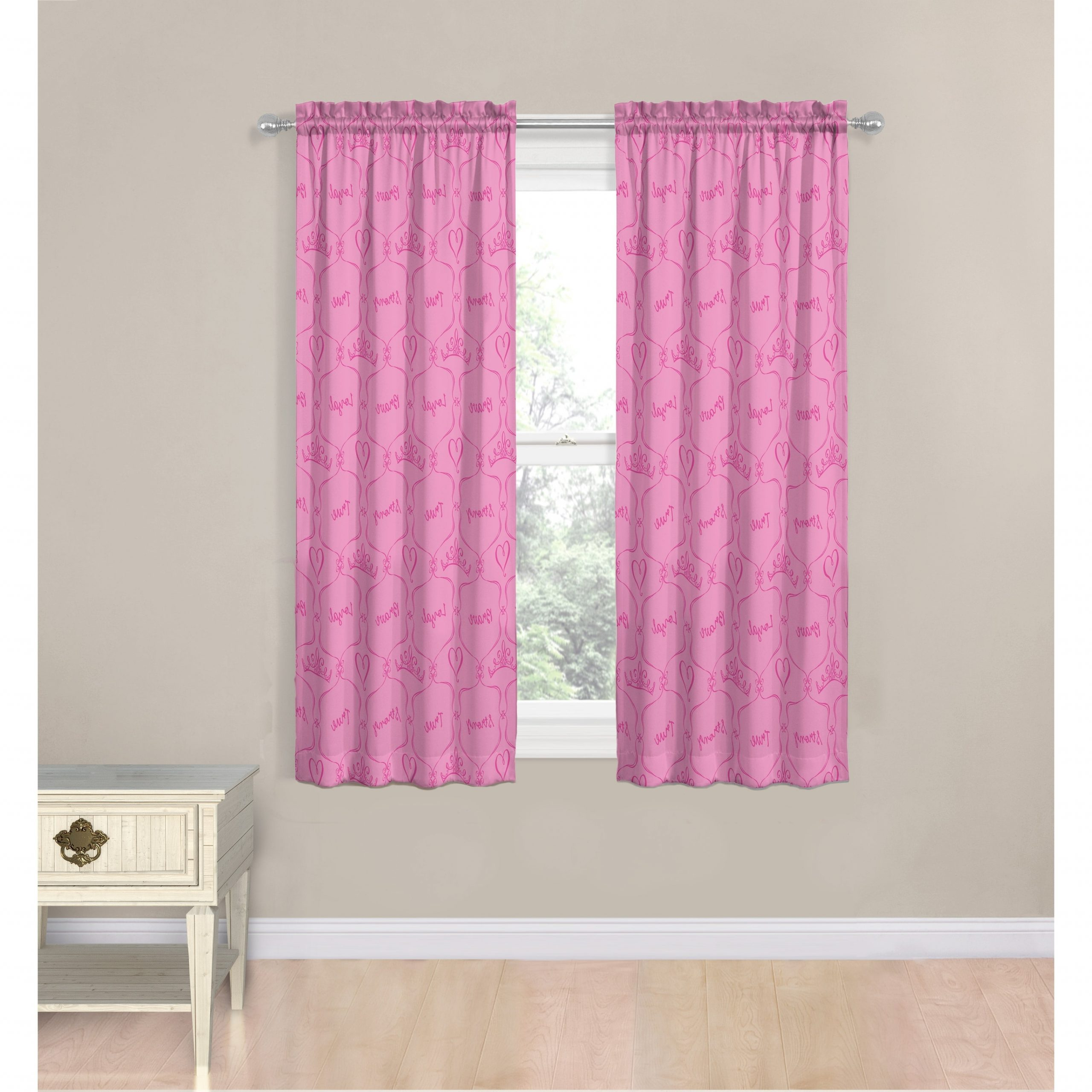 """2021 Disney Princess Friendship Adventures 63"""" Decorative Curtain Set In Classic Hotel Quality Water Resistant Fabric Curtains Set With Tiebacks (View 2 of 20)"""