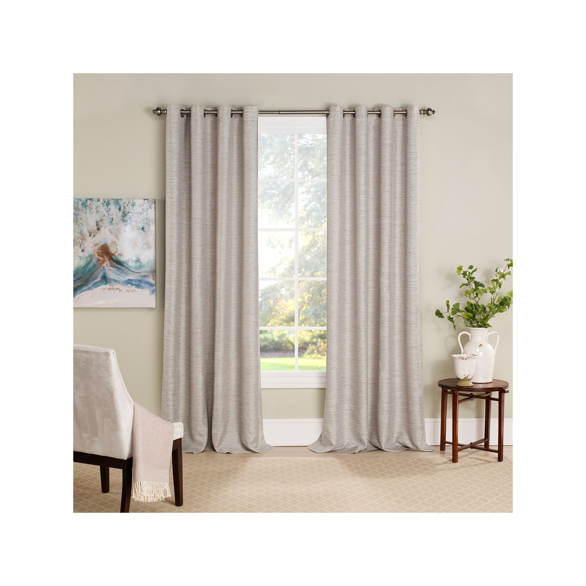 2021 Eclipse Trevi Blackout Grommet Window Curtain Panels Inside Eclipse Newport Thermalayer Room Darkening Window Curtain (View 13 of 20)