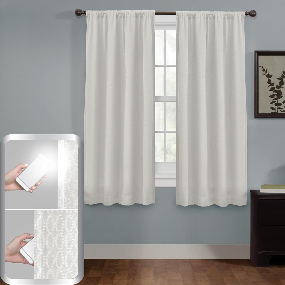 2021 Elegant Comfort Window Sheer Curtain Panel Pairs In Maytex Blackout Jamie Smart 50 In. X 63 In (View 18 of 20)