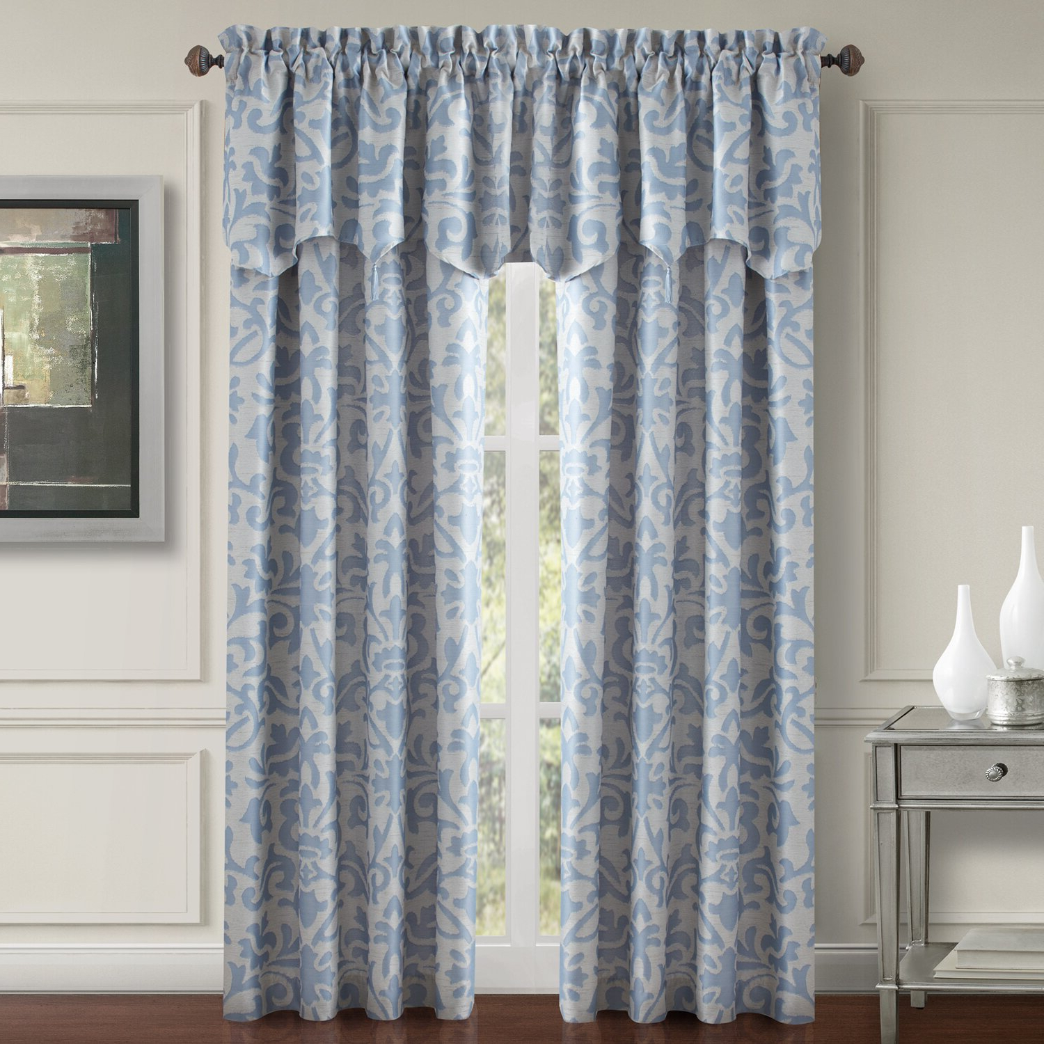 2021 Elrene Versailles Pleated Blackout Curtain Panels With Single Curtain (View 17 of 20)