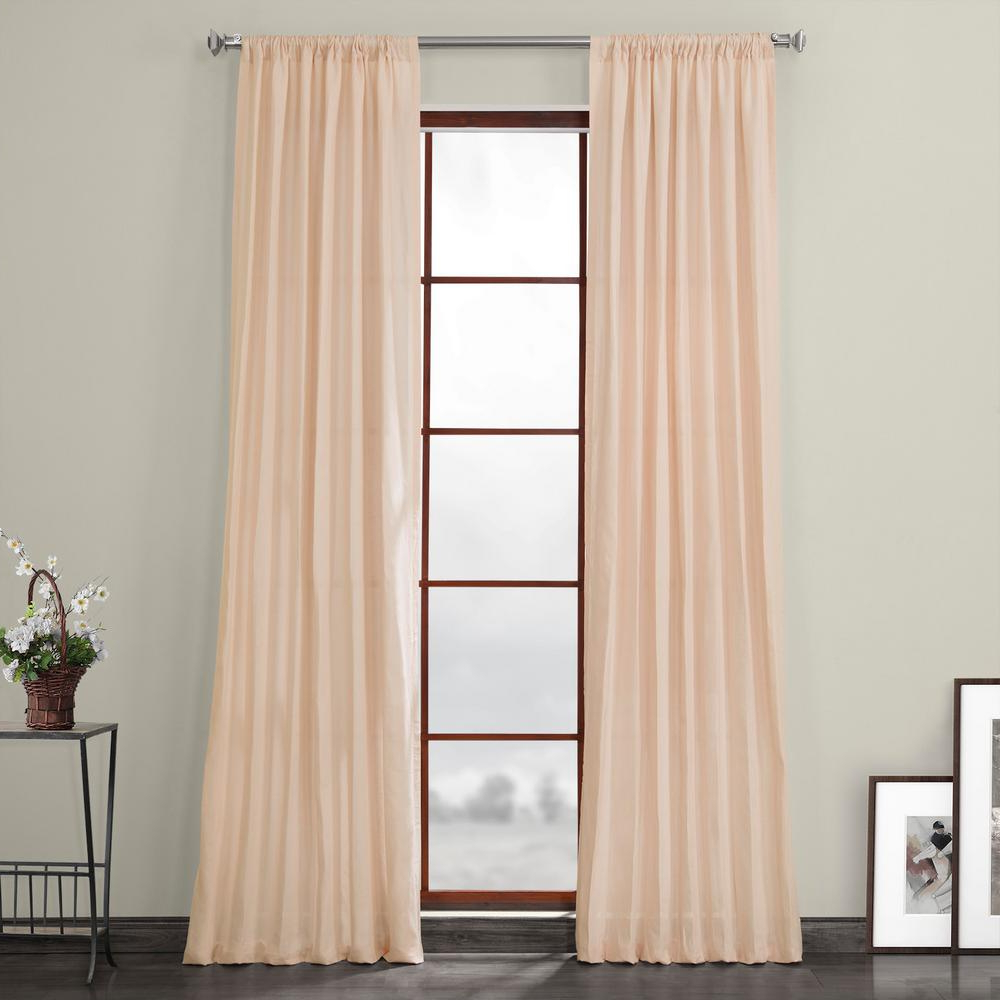 2021 Exclusive Fabrics & Furnishings Signature Cherry Blossom Pink Linen Sheer Curtain – 50 In. W X 108 In (View 18 of 20)
