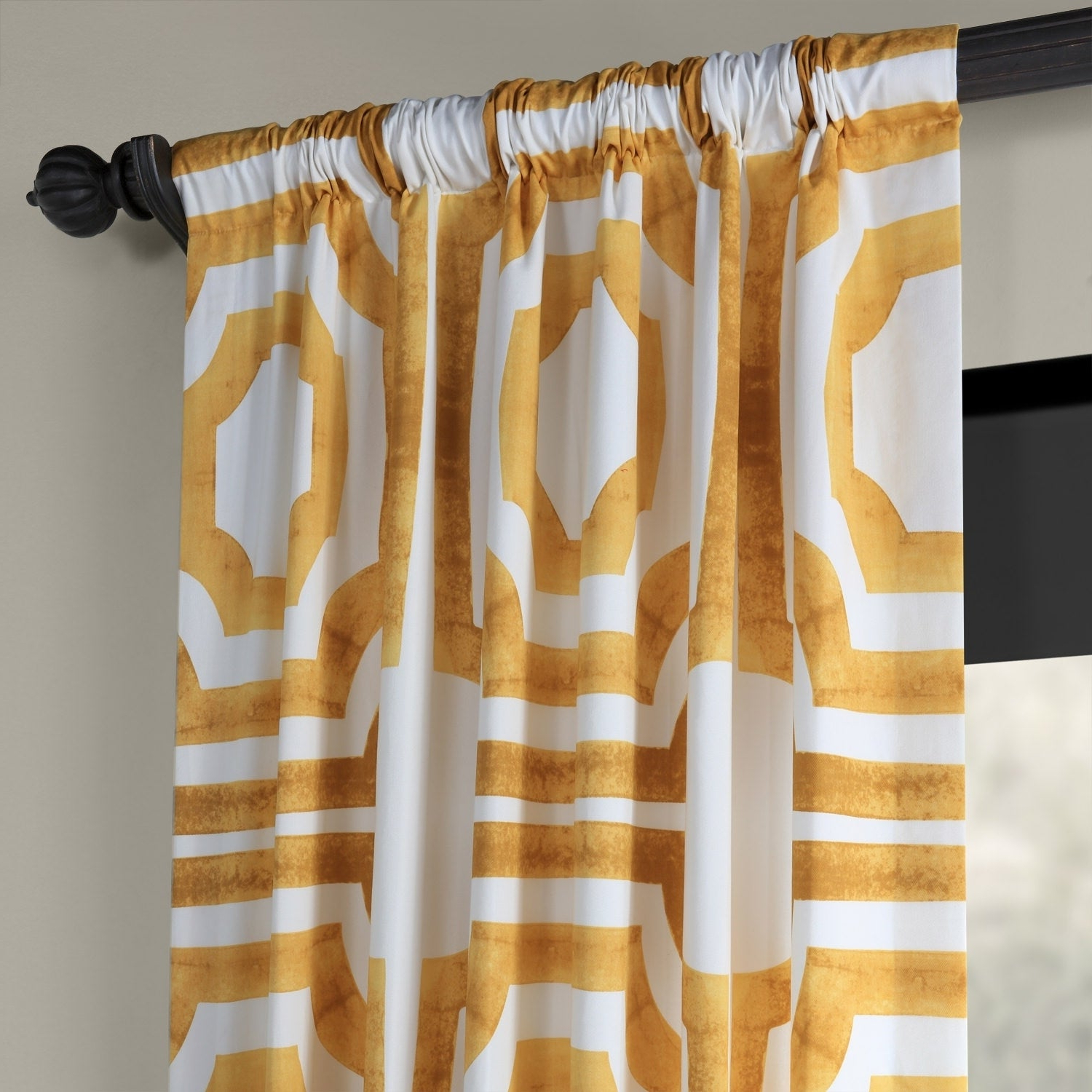 2021 Exclusive Fabrics Mecca Printed Cotton Single Curtain Panel With Mecca Printed Cotton Single Curtain Panels (View 13 of 21)