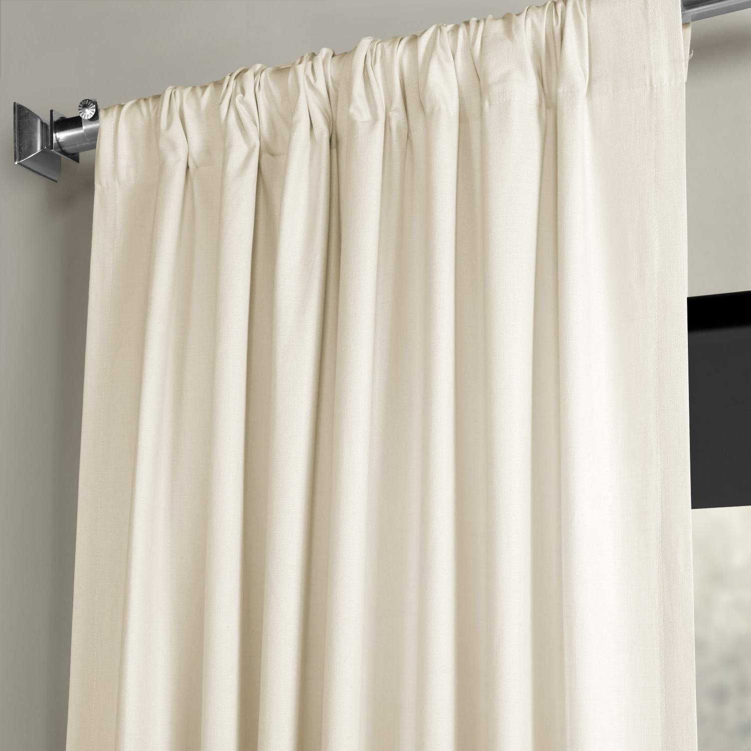 2021 Exclusive Fabrics Solid Country Cotton Linen Weave Curtain Panel Within Solid Country Cotton Linen Weave Curtain Panels (View 1 of 20)