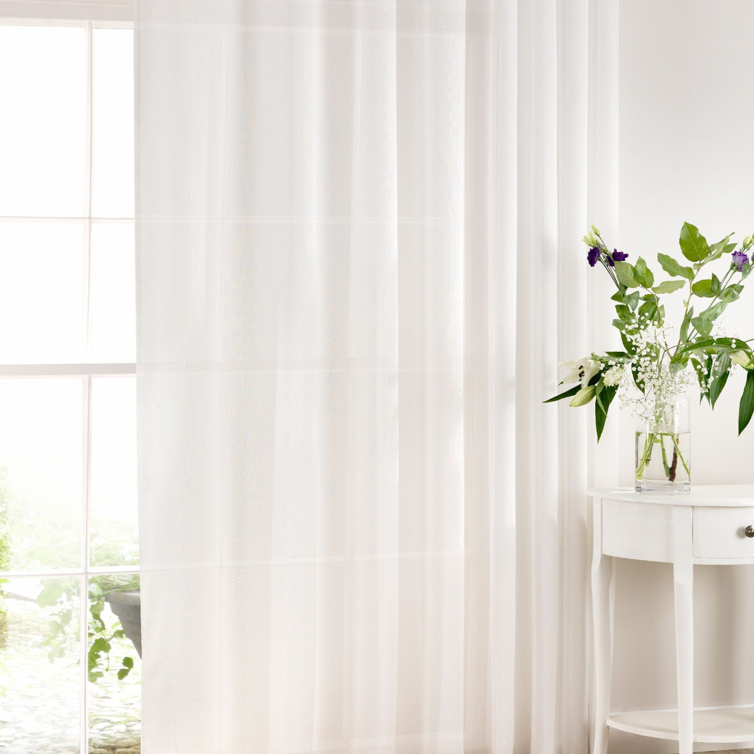 2021 Extra Wide White Voile Sheer Curtain Panels For Extra Wide Cotton Rich Panelssheer Ideas – In Ready Made (View 11 of 20)