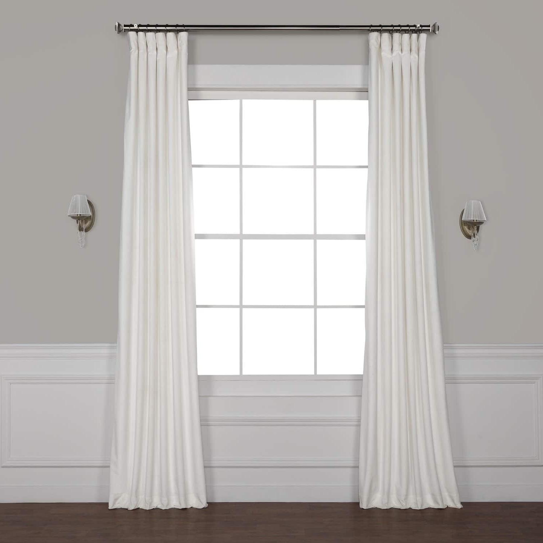 2021 Heritage Plush Velvet Single Curtain Panels With Exclusive Fabrics Heritage Plush Velvet Single Curtain Panel (View 8 of 20)
