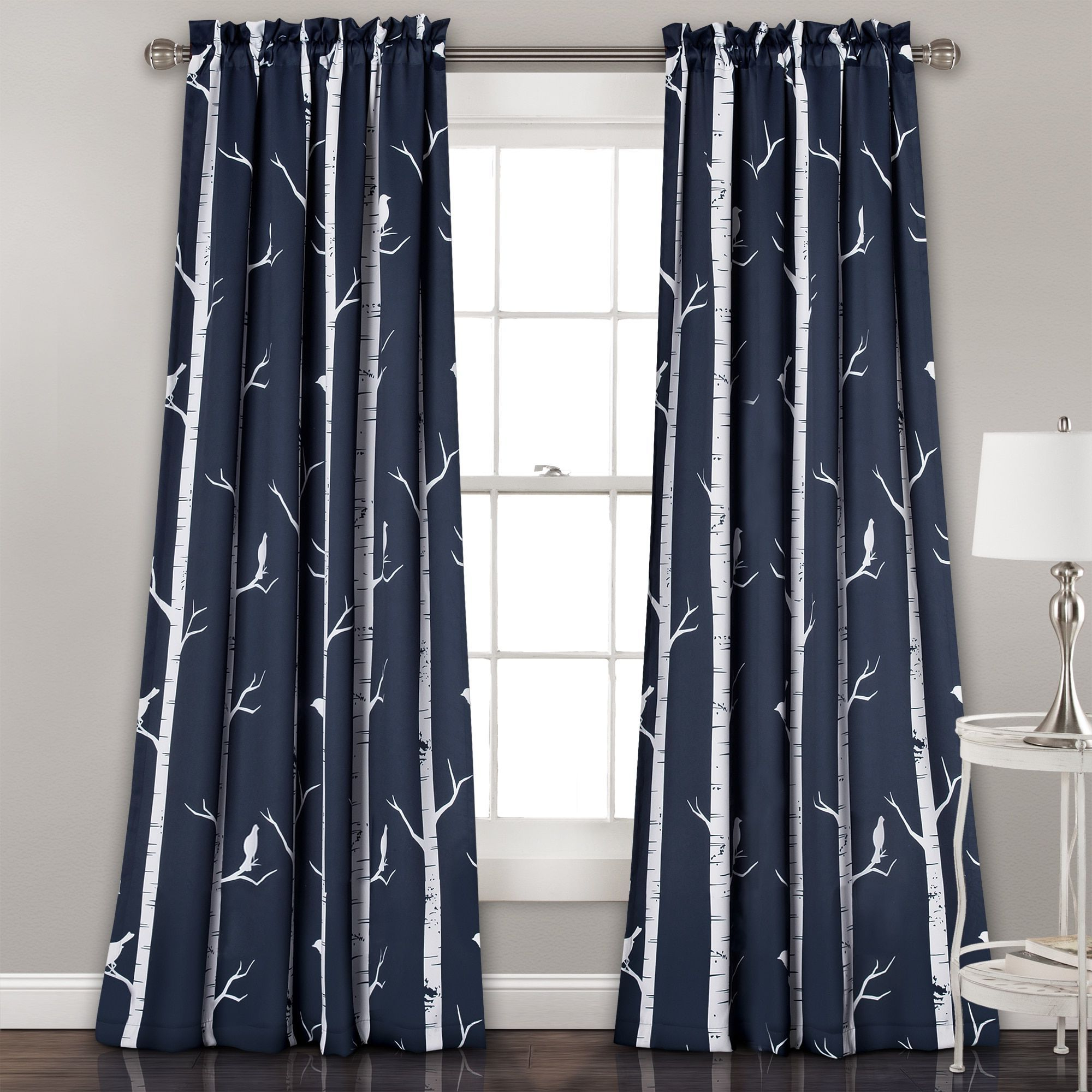 2021 Lush Decor Bird On The Tree Room Darkening Window Curtain Intended For Whitman Curtain Panel Pairs (View 18 of 20)