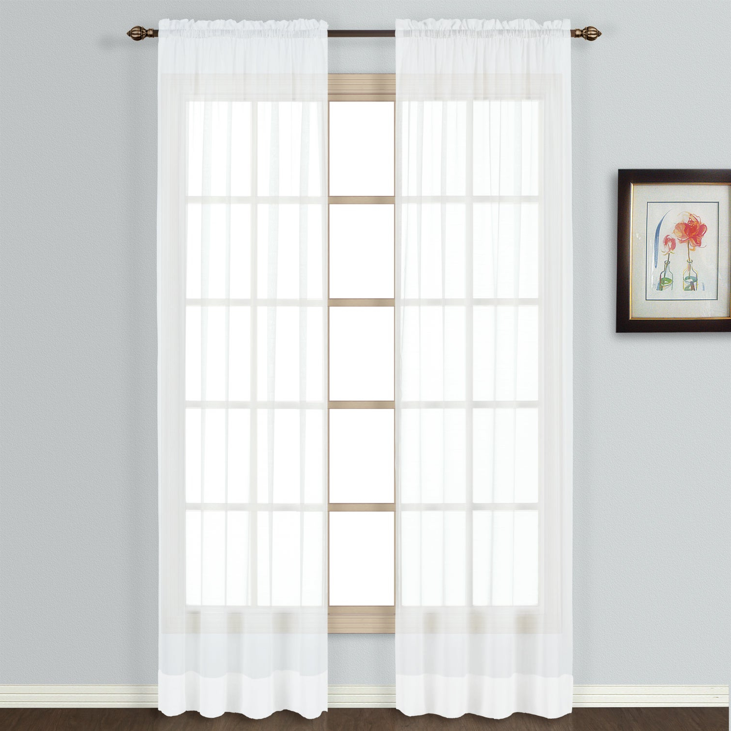 Featured Photo of Luxury Collection Summit Sheer Curtain Panel Pairs
