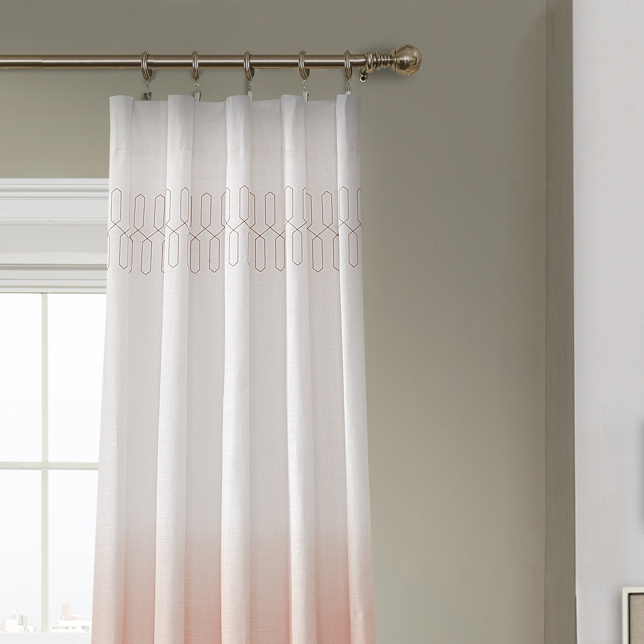 2021 Ombre Embroidery Curtain Panels With Vue Signature Arashi Ombre Embroidery Curtain Panel (View 2 of 20)