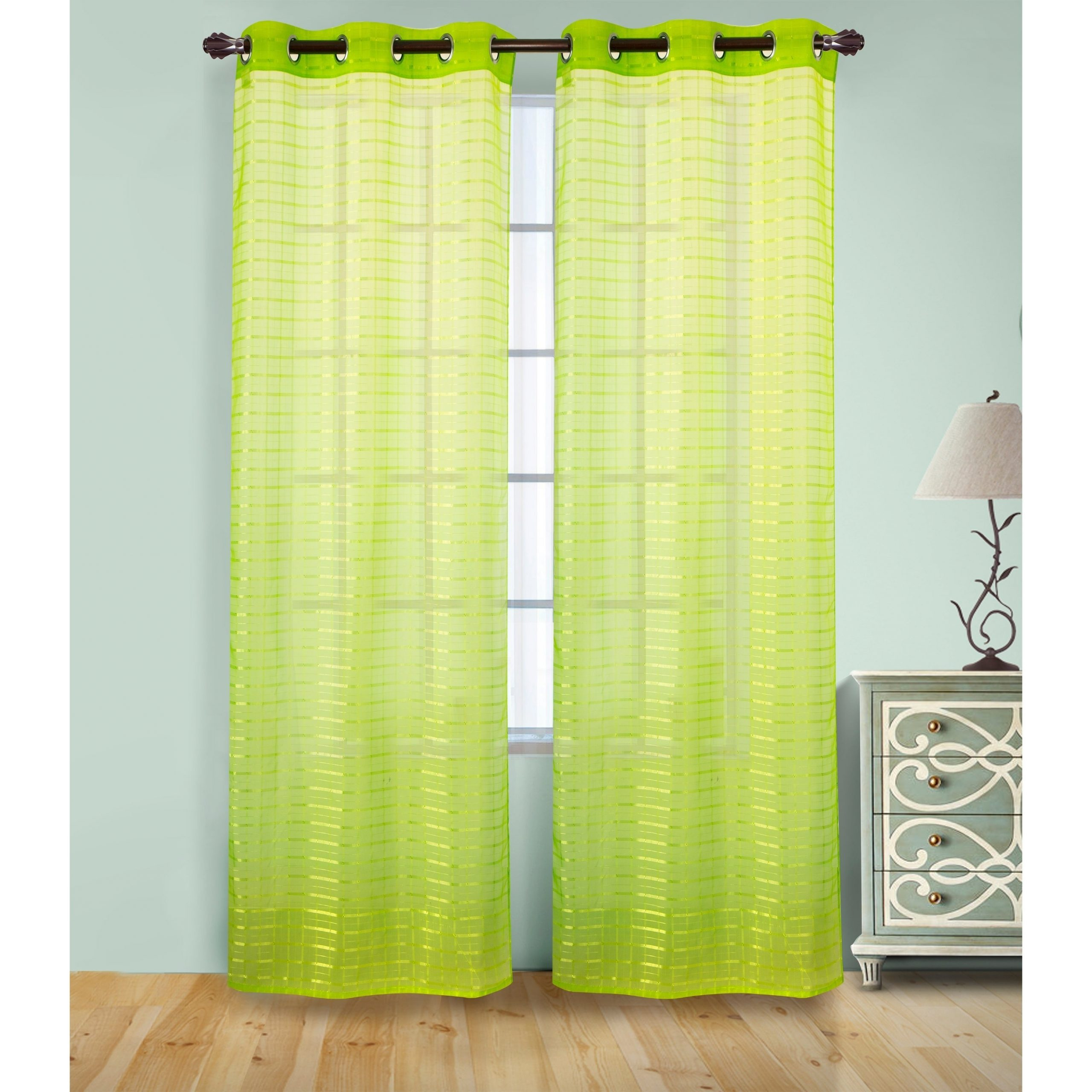 2021 Pairs To Go Victoria Voile Curtain Panel Pairs Pertaining To Rt Designer's Collection Wanda Box Voile 84 Inch Grommet Curtain Panel Pair – (2x) 38 X 84 In (View 13 of 20)