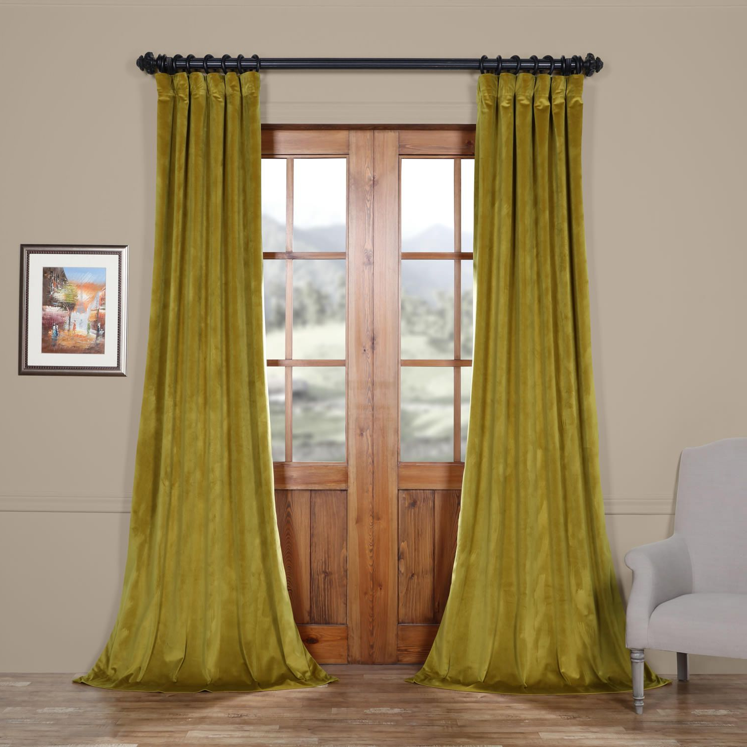 Featured Photo of Heritage Plush Velvet Curtains