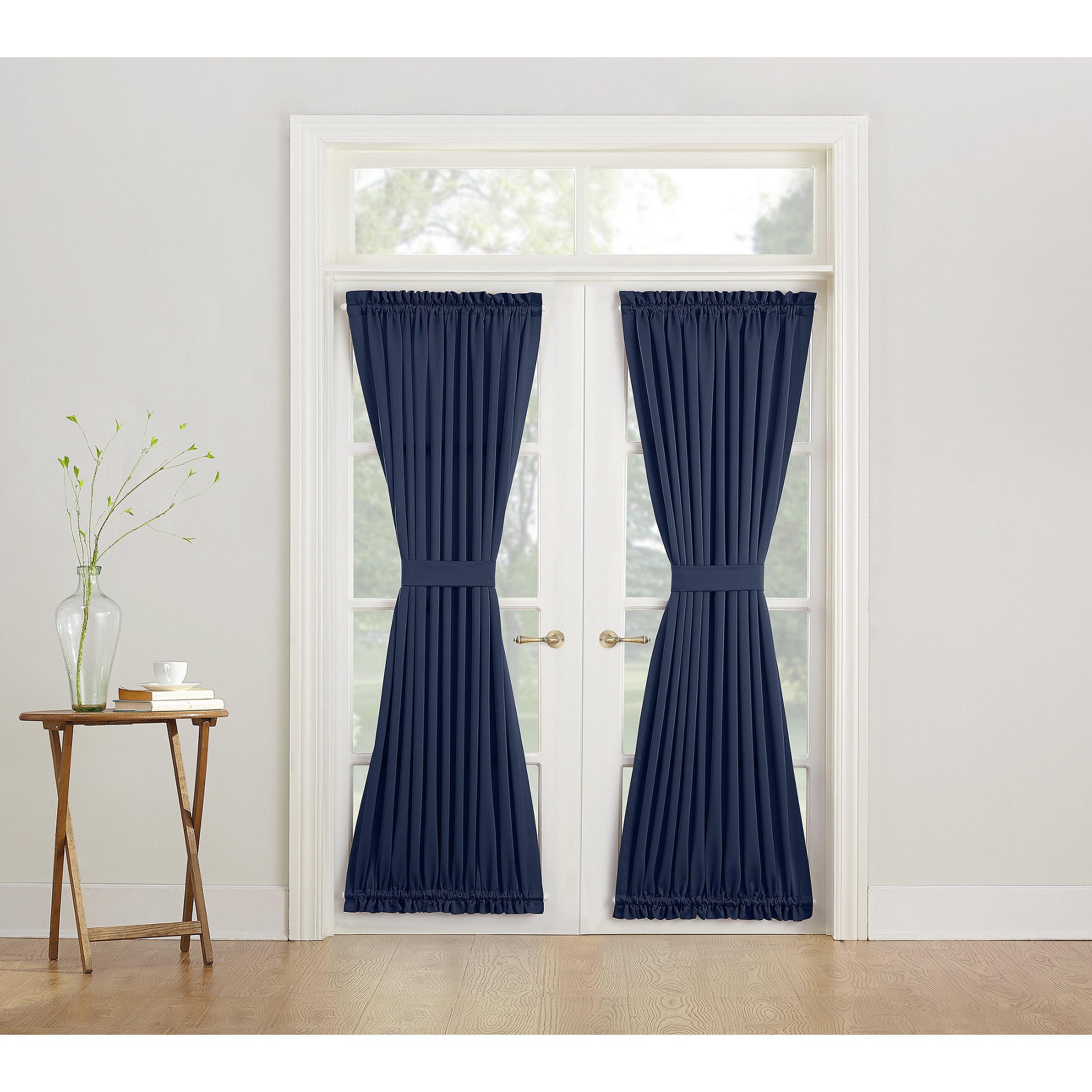 2021 Porch & Den Nantahala Blue Rod Pocket Room Darkening Window Door Panel Regarding Nantahala Rod Pocket Room Darkening Patio Door Single Curtain Panels (View 15 of 20)