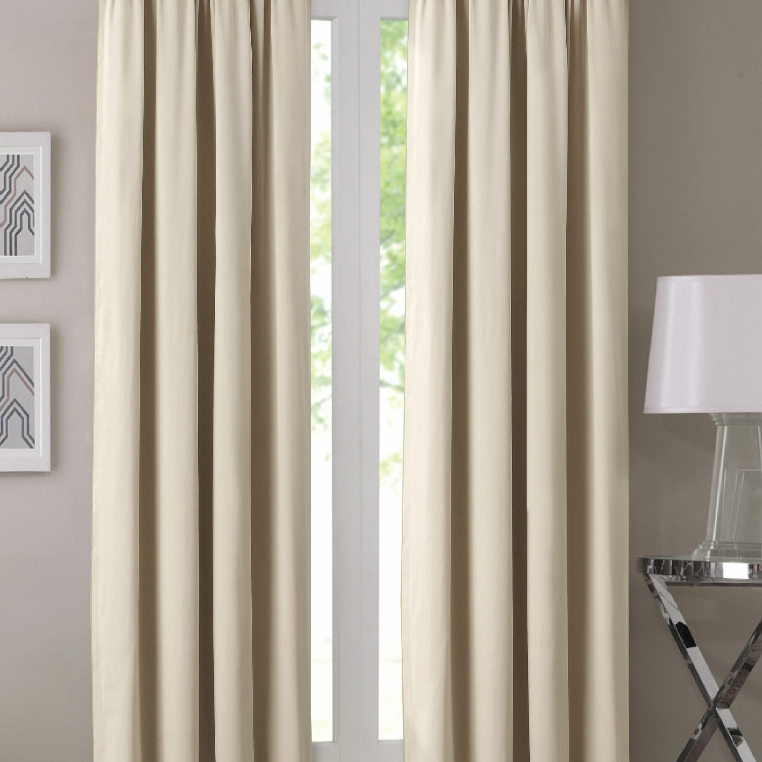 2021 Prine Solid Room Darkening Thermal Single Curtain Panel For Single Curtain Panels (View 10 of 20)