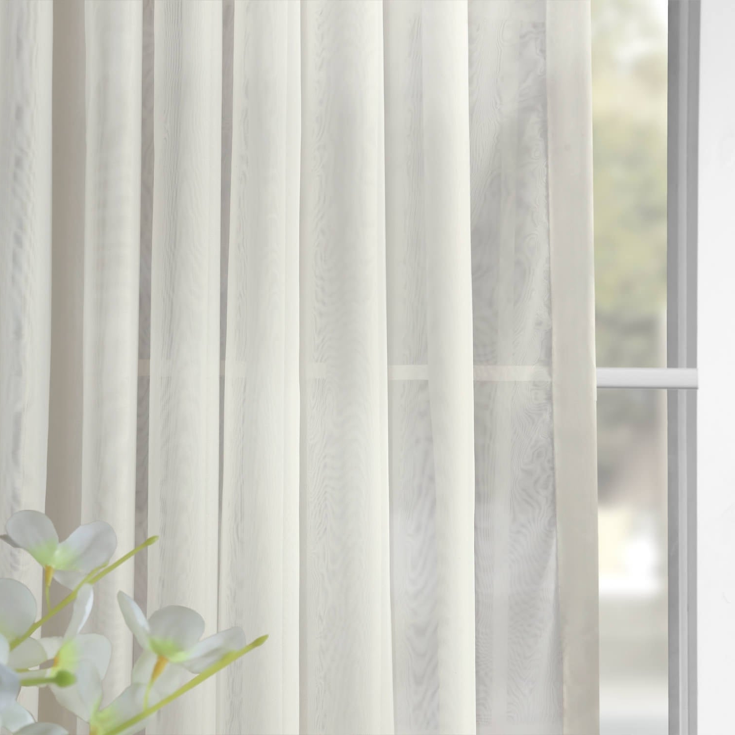 2021 Signature Extrawide Double Layer Sheer Curtain Panels Inside Exclusive Fabrics Signature Extrawide Double Layer Sheer Curtain Panel (View 10 of 20)