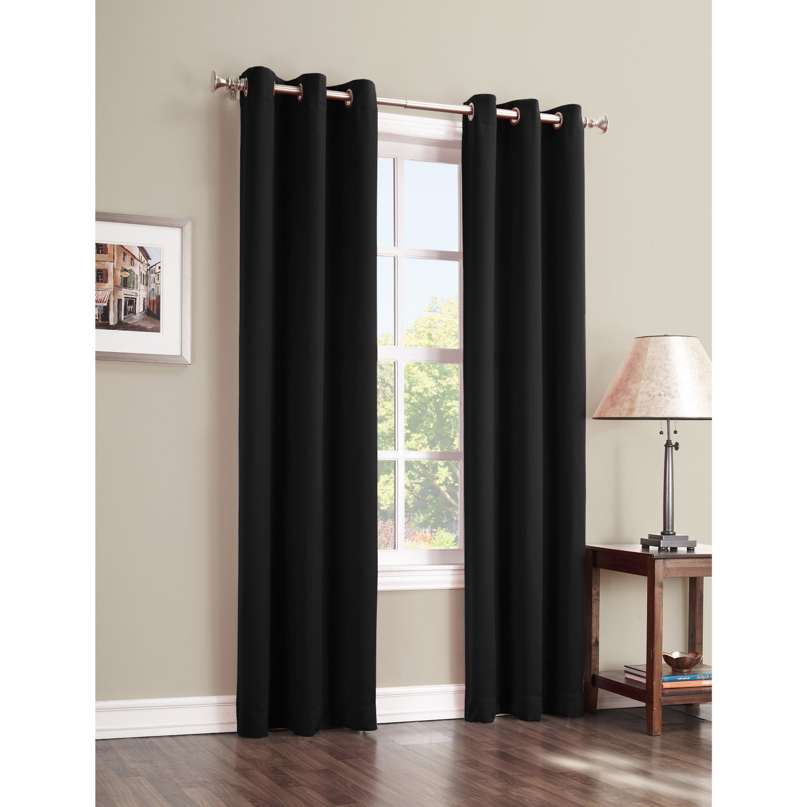 2021 Sun Zero Gareth Blackout Curtain Panel Mineral In 2019 Pertaining To Hayden Grommet Blackout Single Curtain Panels (View 2 of 20)