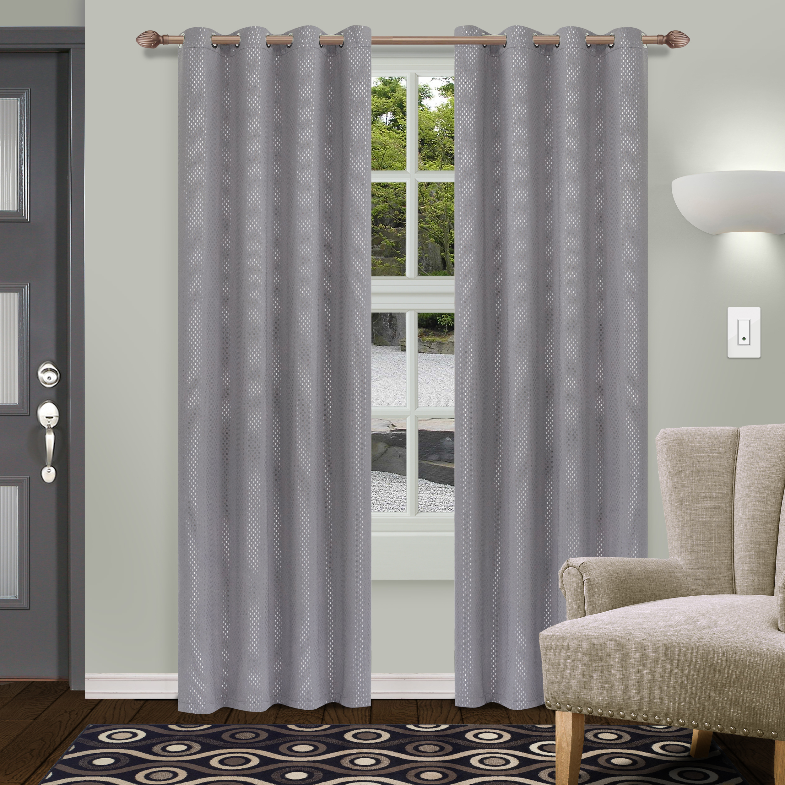 2021 Superior Solid Insulated Thermal Blackout Grommet Curtain Panel Pairs With Regard To Superior Shimmer Textured Blackout Curtain Set Of 2, Insulated Panel With  Grommet Top – Walmart (View 3 of 20)
