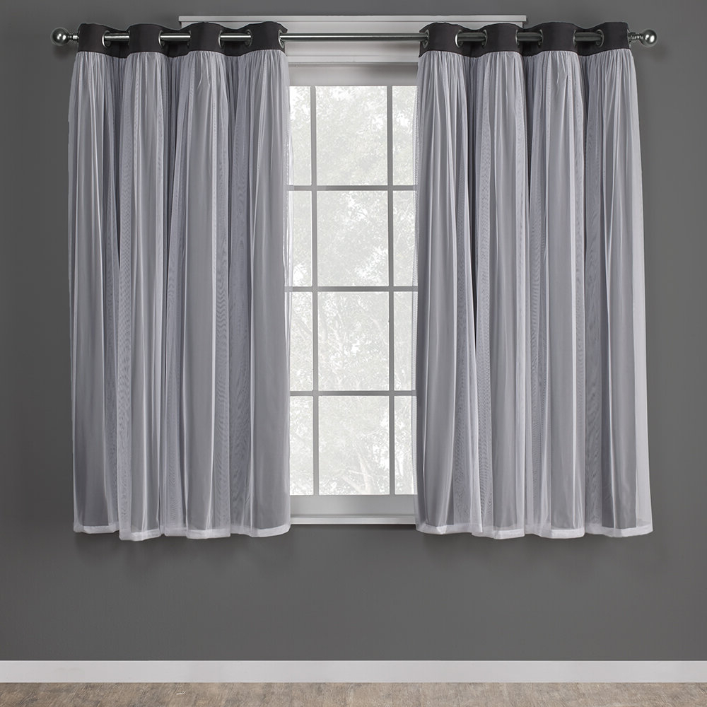 2021 Tuscan Thermal Backed Blackout Curtain Panel Pairs Inside Nunley Layered Solid Blackout Thermal Grommet Curtain Panels (View 14 of 20)