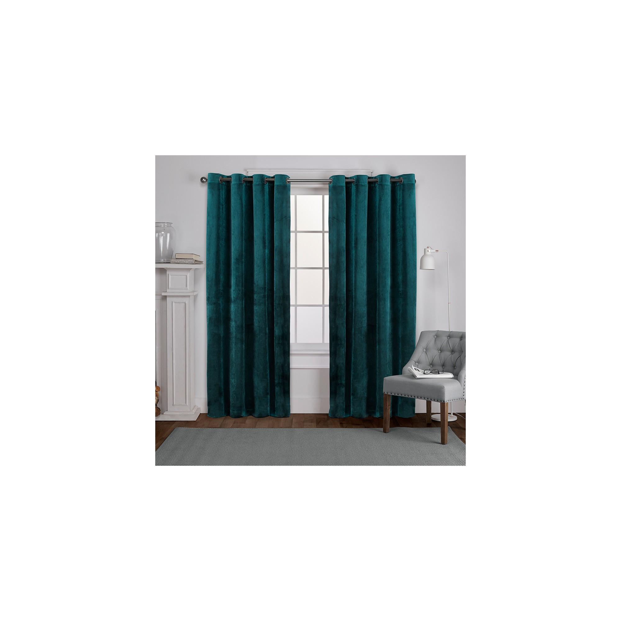 2021 Velvet Heavyweight Grommet Top Curtain Panel Pairs Inside Velvet Heavyweight Grommet Top Window Curtain Panel Pair (View 10 of 20)