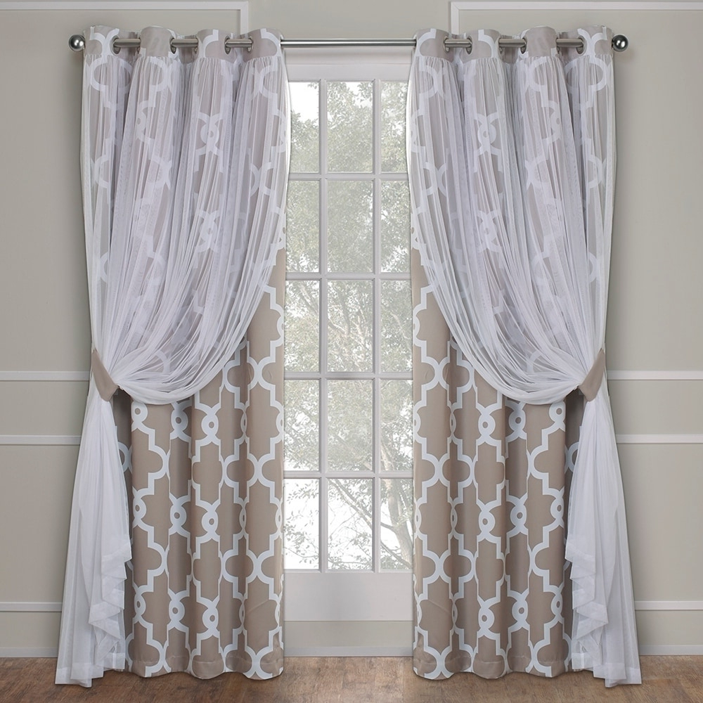 2021 Woven Blackout Grommet Top Curtain Panel Pairs Regarding Ati Home Thermal Woven Blackout Grommet Top Curtain Panel (View 20 of 20)