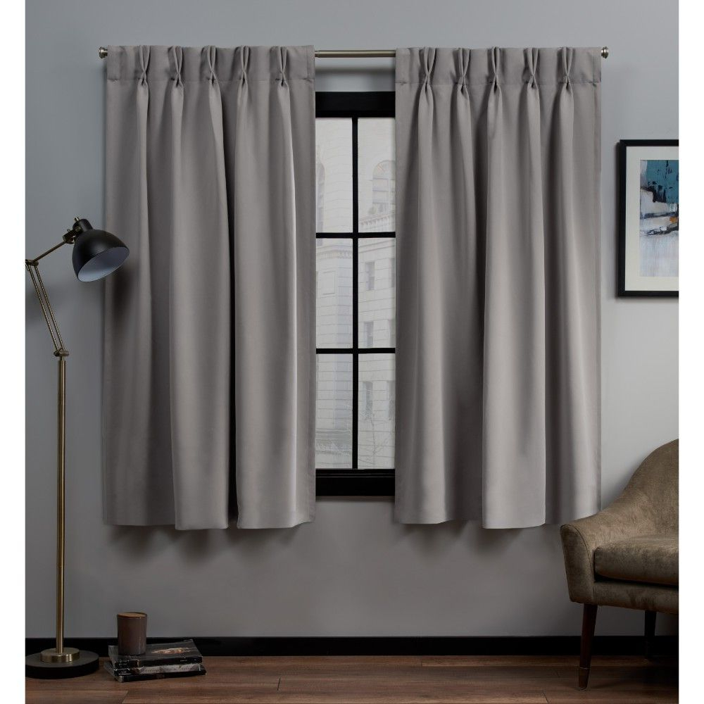 "30""x96"" Sateen Twill Woven Blackout Pinch Pleat Window Regarding 2020 Sateen Woven Blackout Curtain Panel Pairs With Pinch Pleat Top (Gallery 9 of 20)"