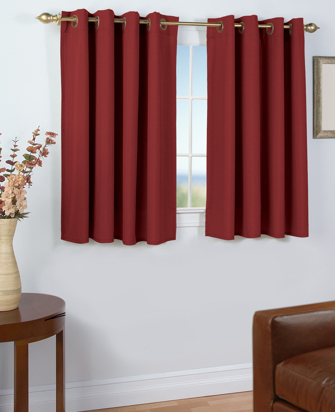 45 Inch Long Curtains – Thecurtainshop Intended For Popular Hayden Grommet Blackout Single Curtain Panels (View 19 of 20)