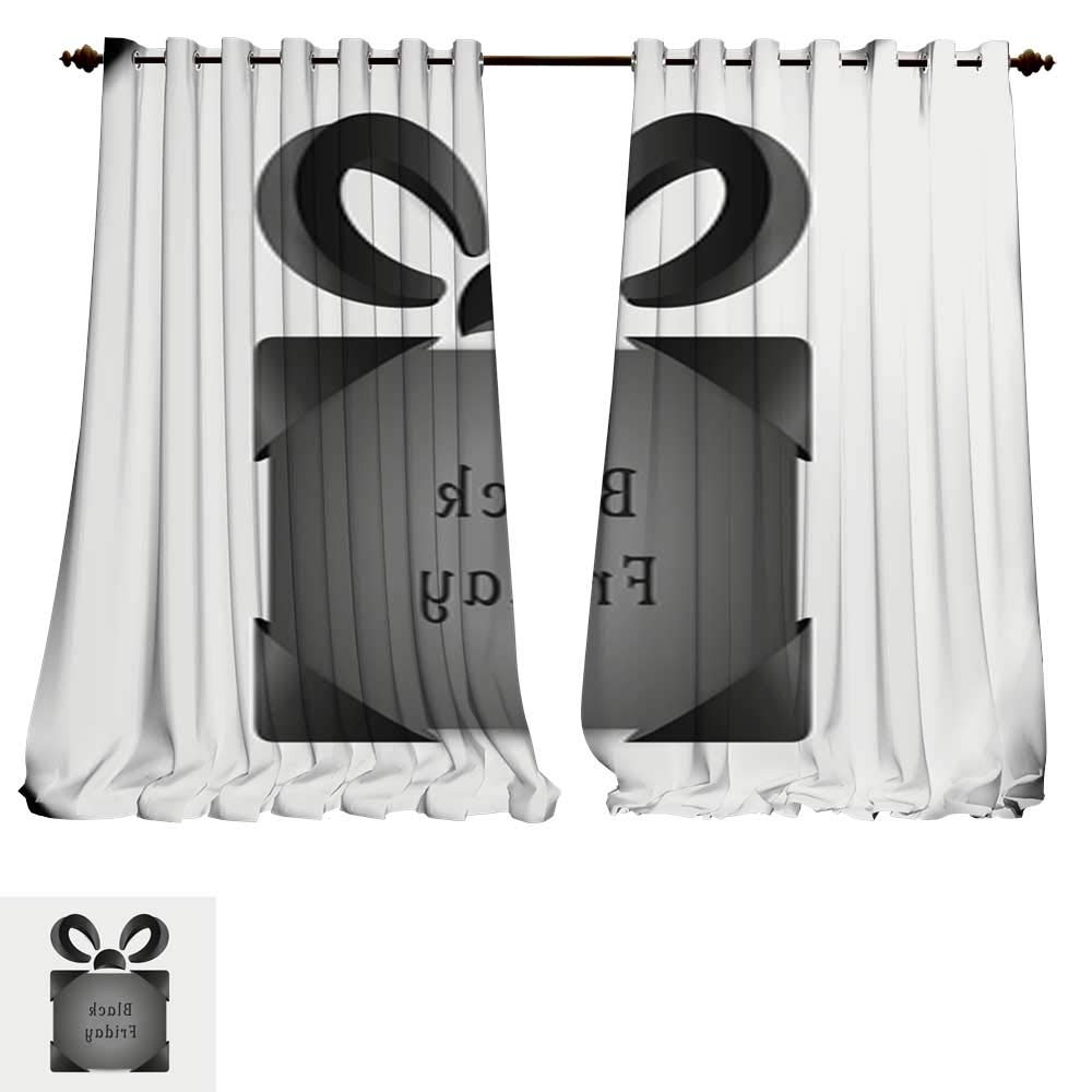 Abstract Blackout Curtain Panel Pairs Pertaining To Popular Amazon: Despkon Home Window Curtain Fabric Abstract (View 9 of 20)