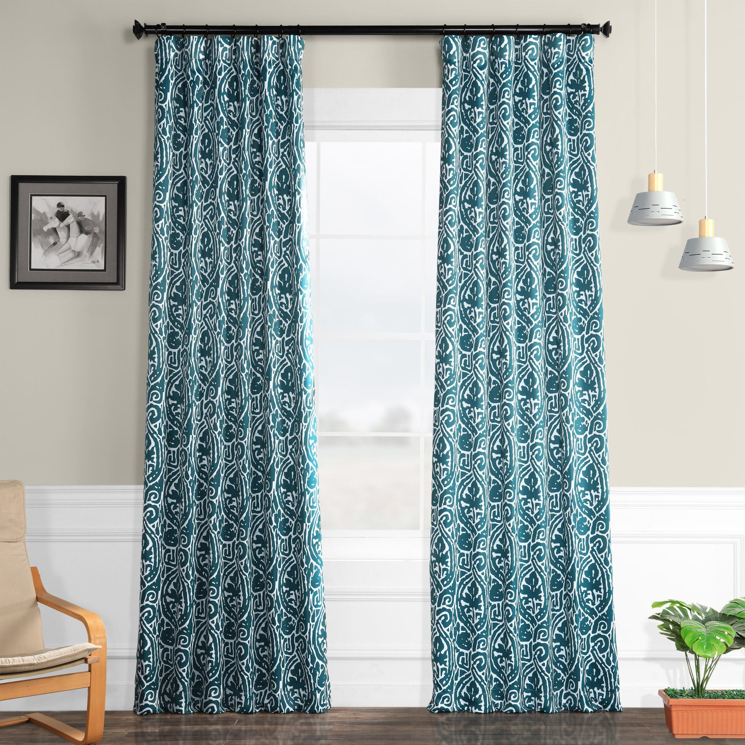 Abstract Blackout Curtain Panel Pairs With Fashionable Exclusive Fabrics Abstract Blackout Curtain Panel Pair (View 6 of 20)