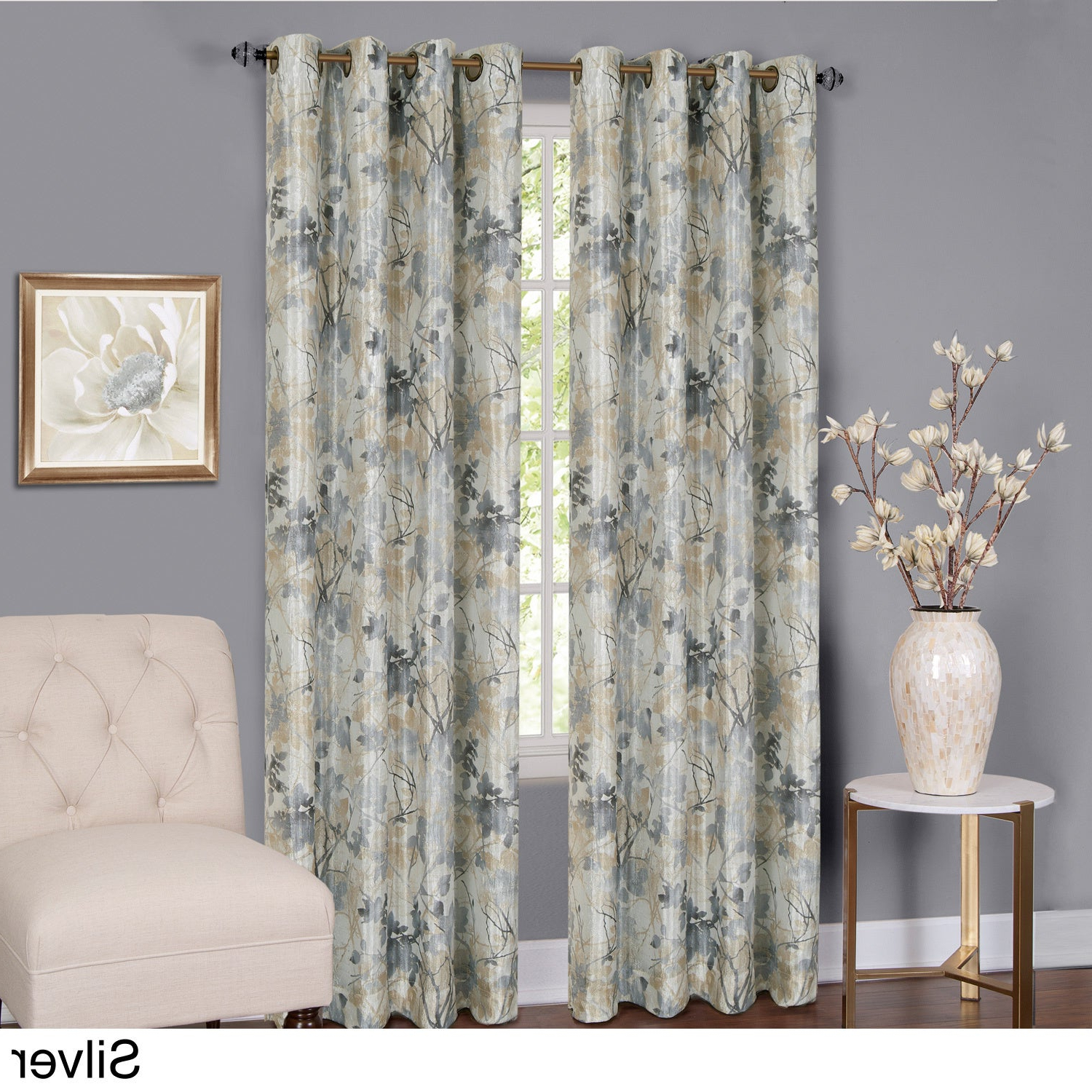 Achim Tranquil Lined Grommet Curtain Panel For Newest Lined Grommet Curtain Panels (View 2 of 20)