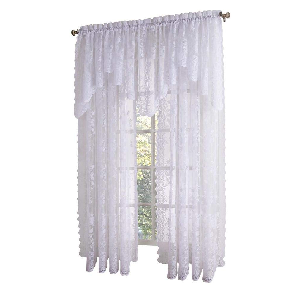 Alison Rod Pocket Lace Window Curtain Panels In Widely Used Amazon: Alison Jacquard Lace Curtain Panel: Home & Kitchen (View 13 of 20)