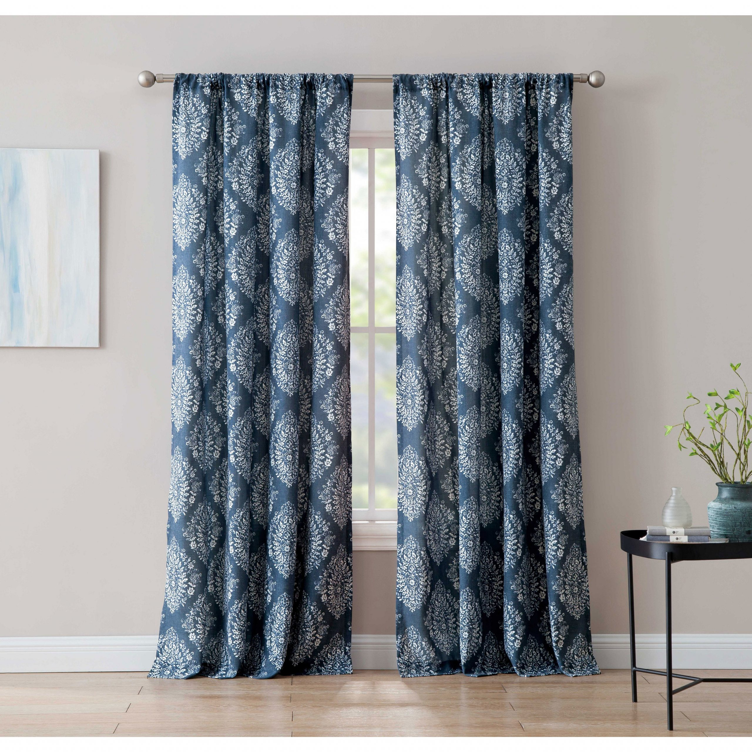 Alma 84 Inch Window Curtain With Rod Pocket Single Panel, Inspired Surroundings1888 Mills In Recent Willow Rod Pocket Window Curtain Panels (View 16 of 20)