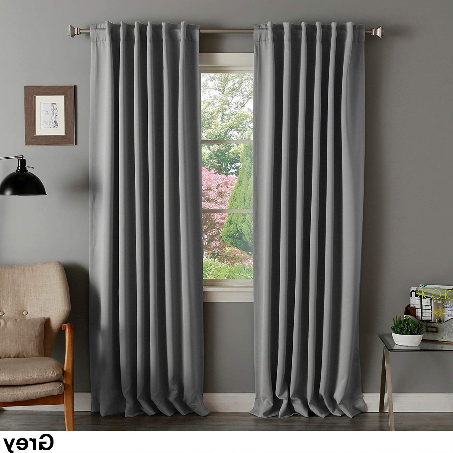 Amazon: Aurora Home Solid Thermal Insulated 108 Inch Pertaining To Preferred Solid Thermal Insulated Blackout Curtain Panel Pairs (View 10 of 20)