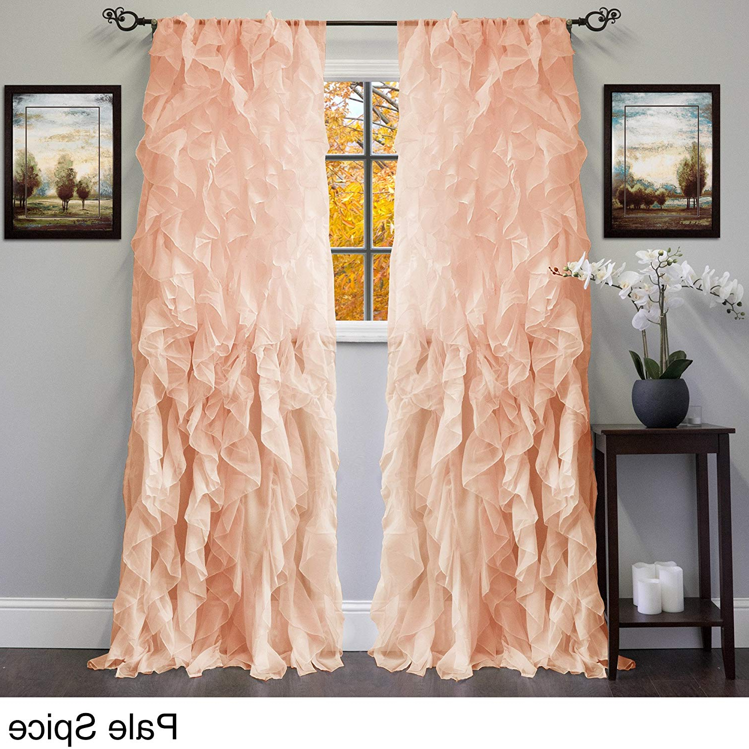 Amazon: Bed Bath N More Sheer Voile Ruffled Tier Window Pertaining To Most Up To Date Sheer Voile Waterfall Ruffled Tier Single Curtain Panels (View 1 of 20)