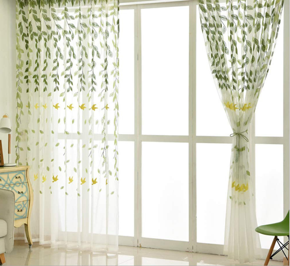 Amazon: Bw0057 Rural Spring Style Swallow Willow In Preferred Willow Rod Pocket Window Curtain Panels (View 11 of 20)