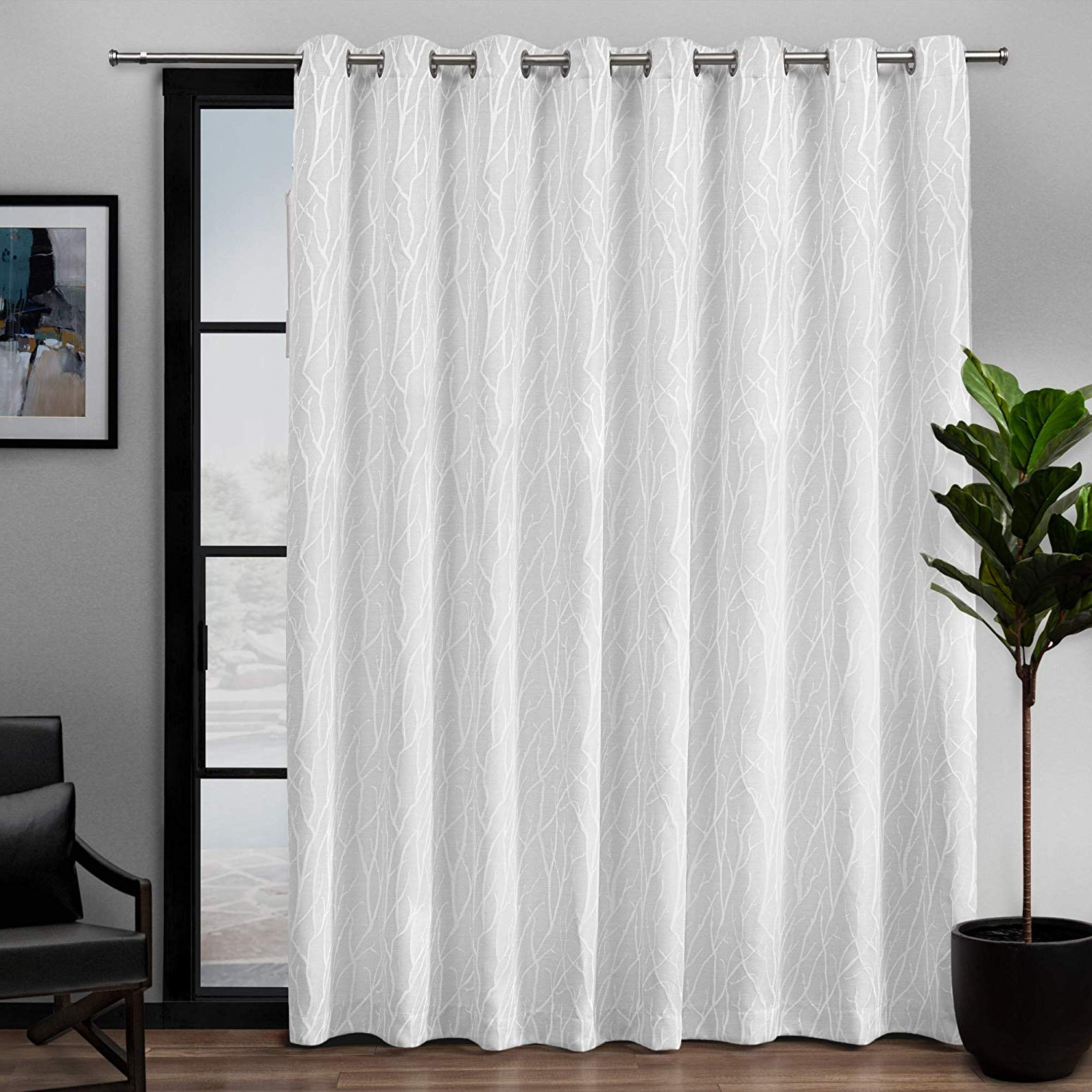 Amazon: Exclusive Home Forest Hill Patio Woven Blackout Regarding Preferred Forest Hill Woven Blackout Grommet Top Curtain Panel Pairs (View 1 of 20)