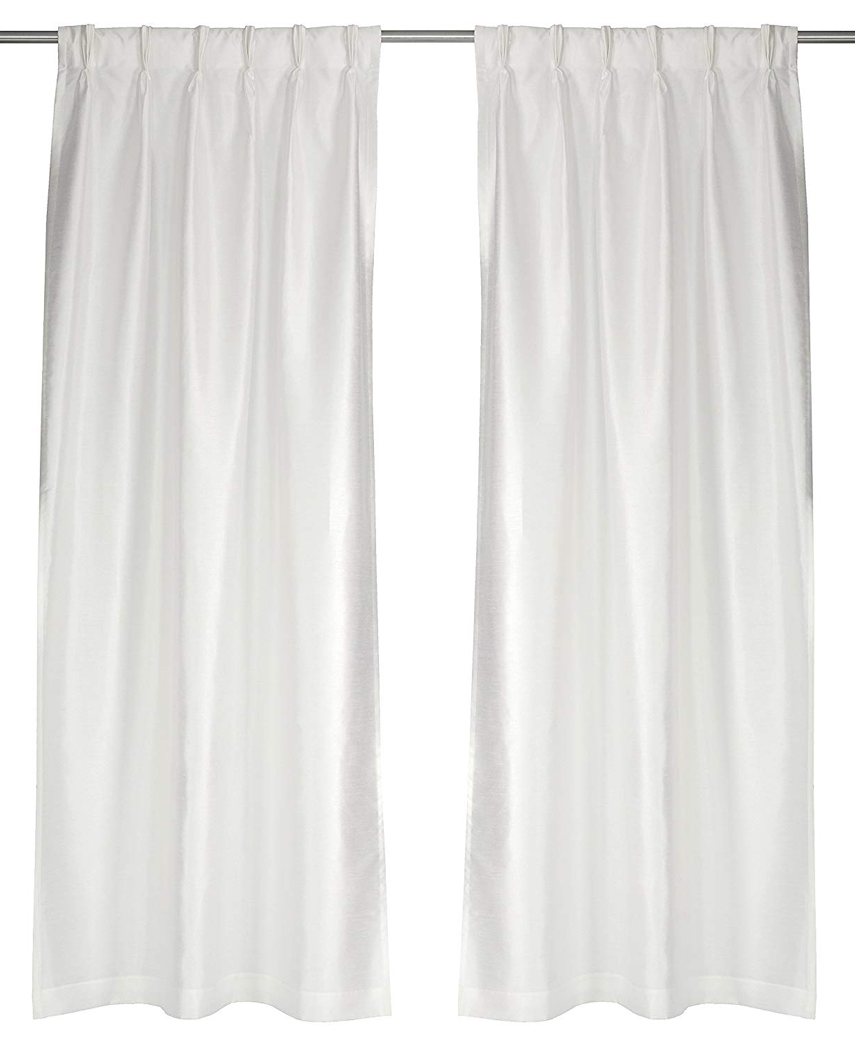 Amazon: Lj Home Fashions 572 Zoi Lined Faux Silk Pinch In Most Up To Date Double Pinch Pleat Top Curtain Panel Pairs (View 3 of 20)