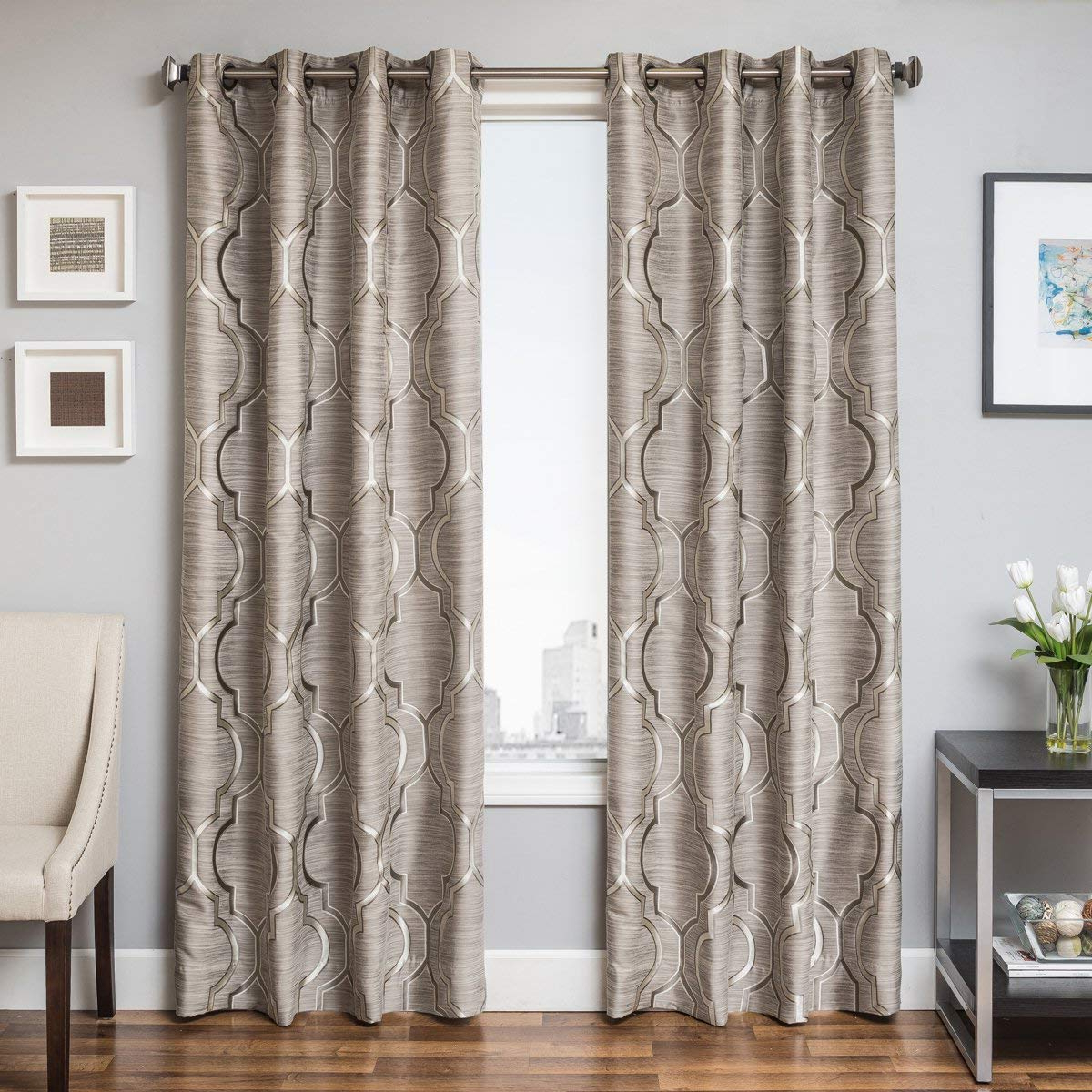 Amazon: Softline Trenton Grommet Top Curtain Panel Grey Throughout Most Up To Date Softline Trenton Grommet Top Curtain Panels (View 3 of 20)