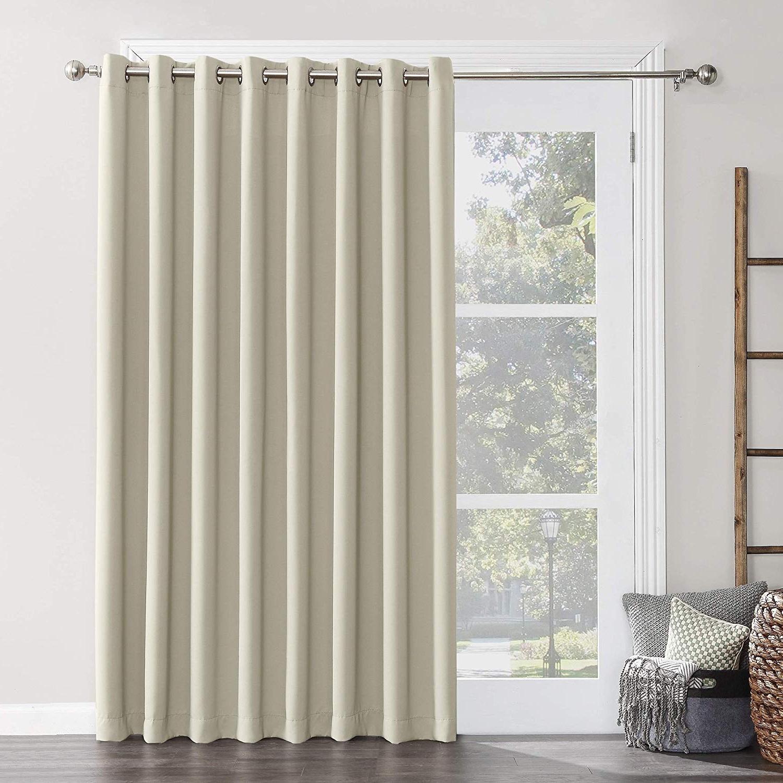 Amazon: Sun Zero Hayden Grommet Blackout Patio Door Pertaining To Most Up To Date Hayden Grommet Blackout Single Curtain Panels (View 3 of 20)