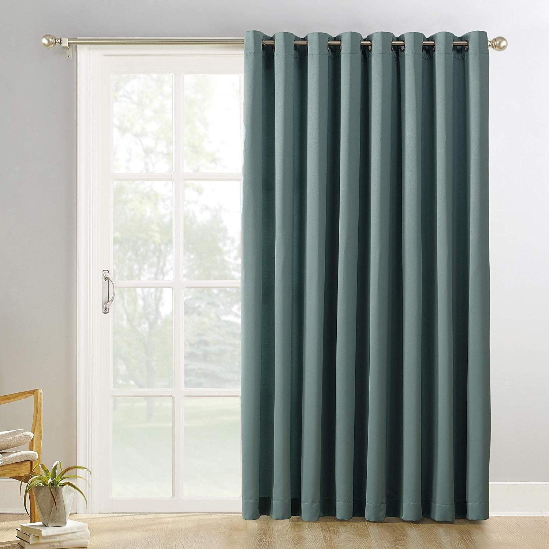 Amazon: Sun Zero Hayden Grommet Blackout Patio Door Regarding Preferred Hayden Grommet Blackout Single Curtain Panels (View 4 of 20)