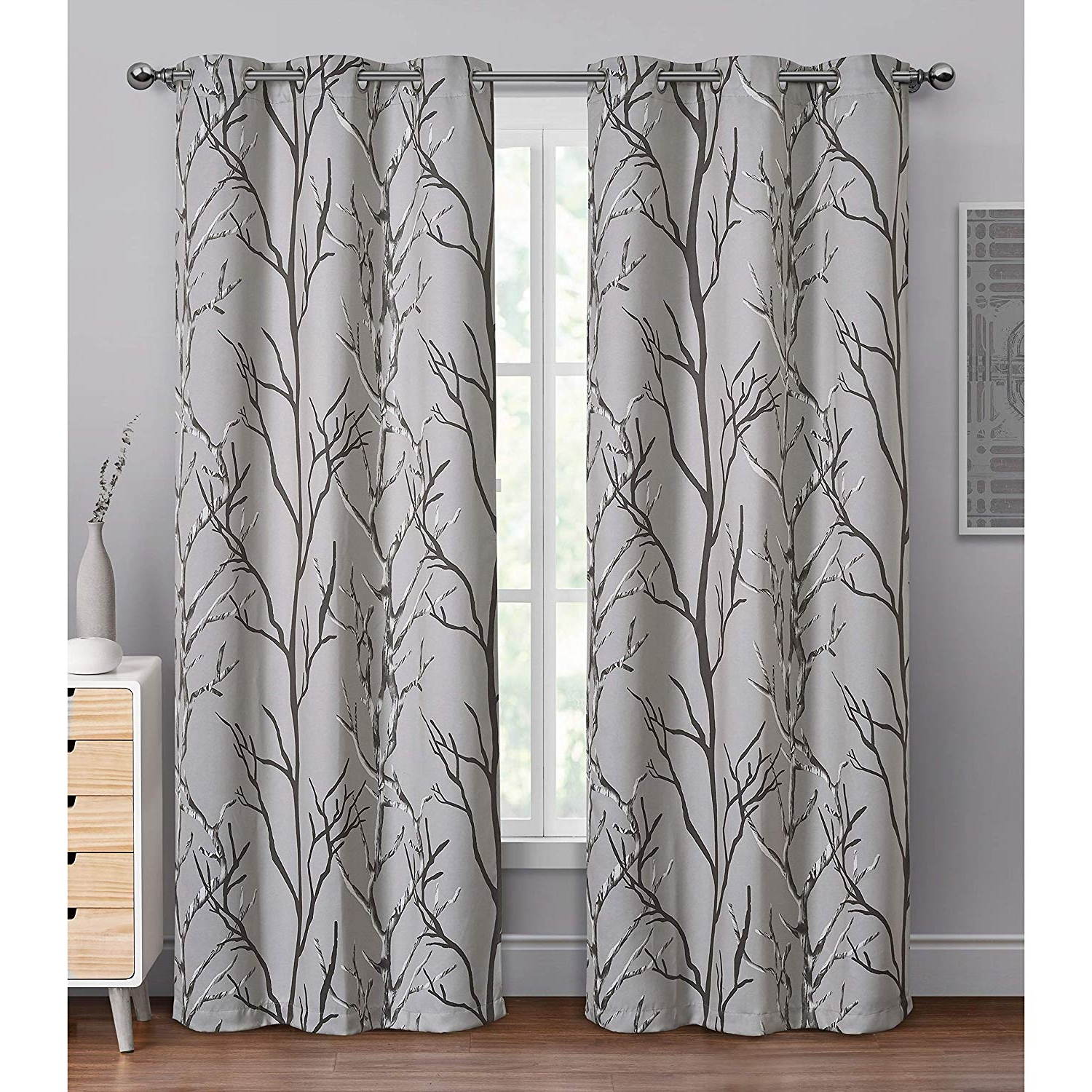 Amazon: Vcny Home Keyes Blackout Single Curtain Panel Pertaining To Newest Keyes Blackout Single Curtain Panels (View 3 of 20)